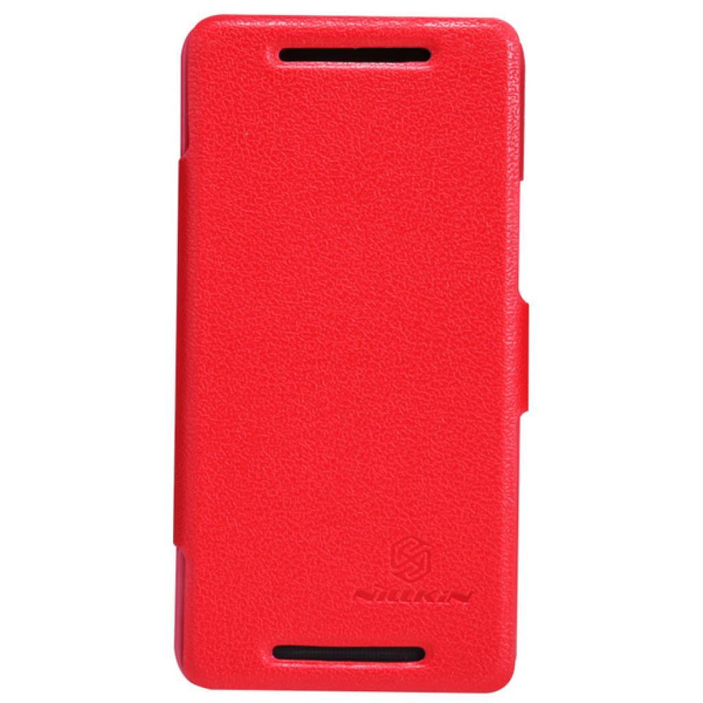 Чехол для моб. телефона NILLKIN для HTC ONE/M7- Fresh/ Leather/Red (6076833)