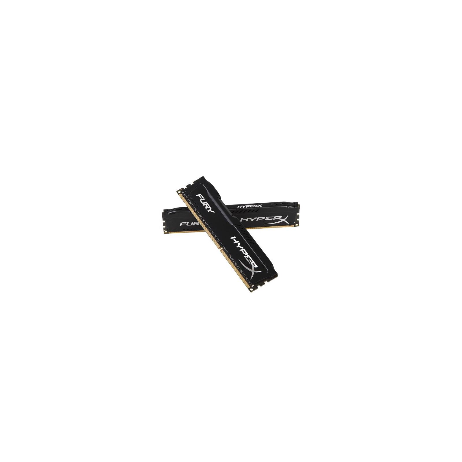 Модуль памяти для компьютера DDR3 8Gb (2x4GB) 1600 MHz HyperX Fury Black Kingston (HX316C10FBK2/8) изображение 3