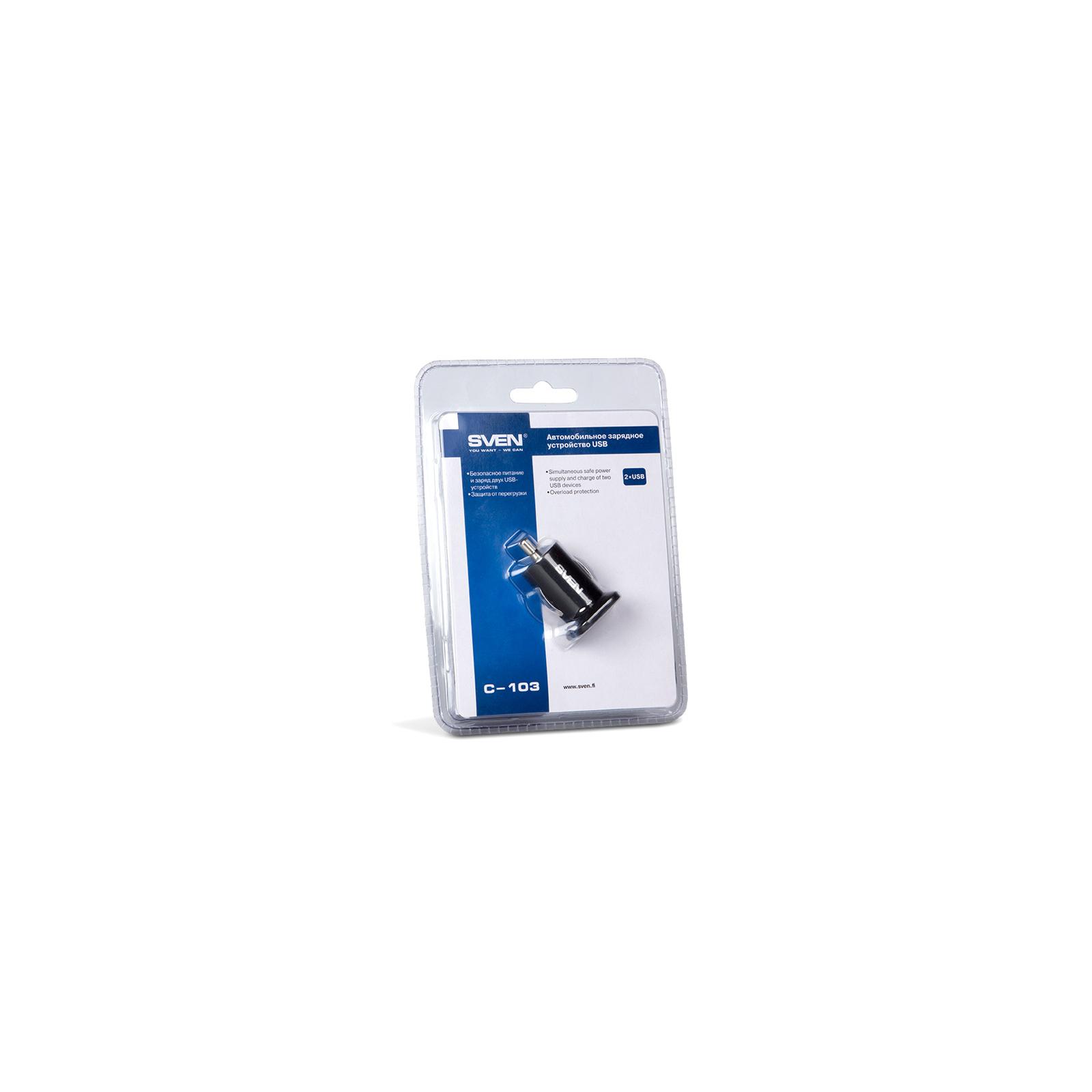 Зарядное устройство SVEN USB Car Charger (C-103) изображение 2