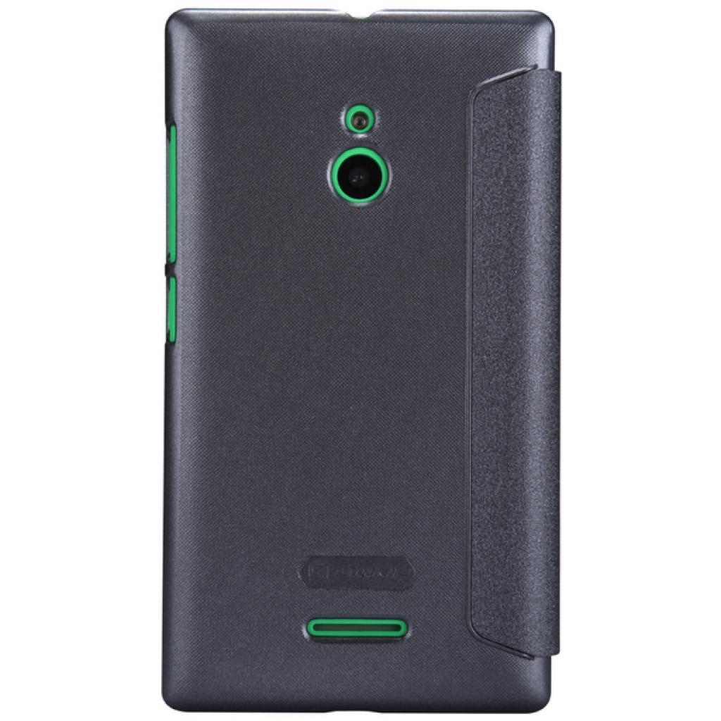 Чехол для моб. телефона NILLKIN для Nokia XL /Spark/ Leather/Black (6164351) изображение 5
