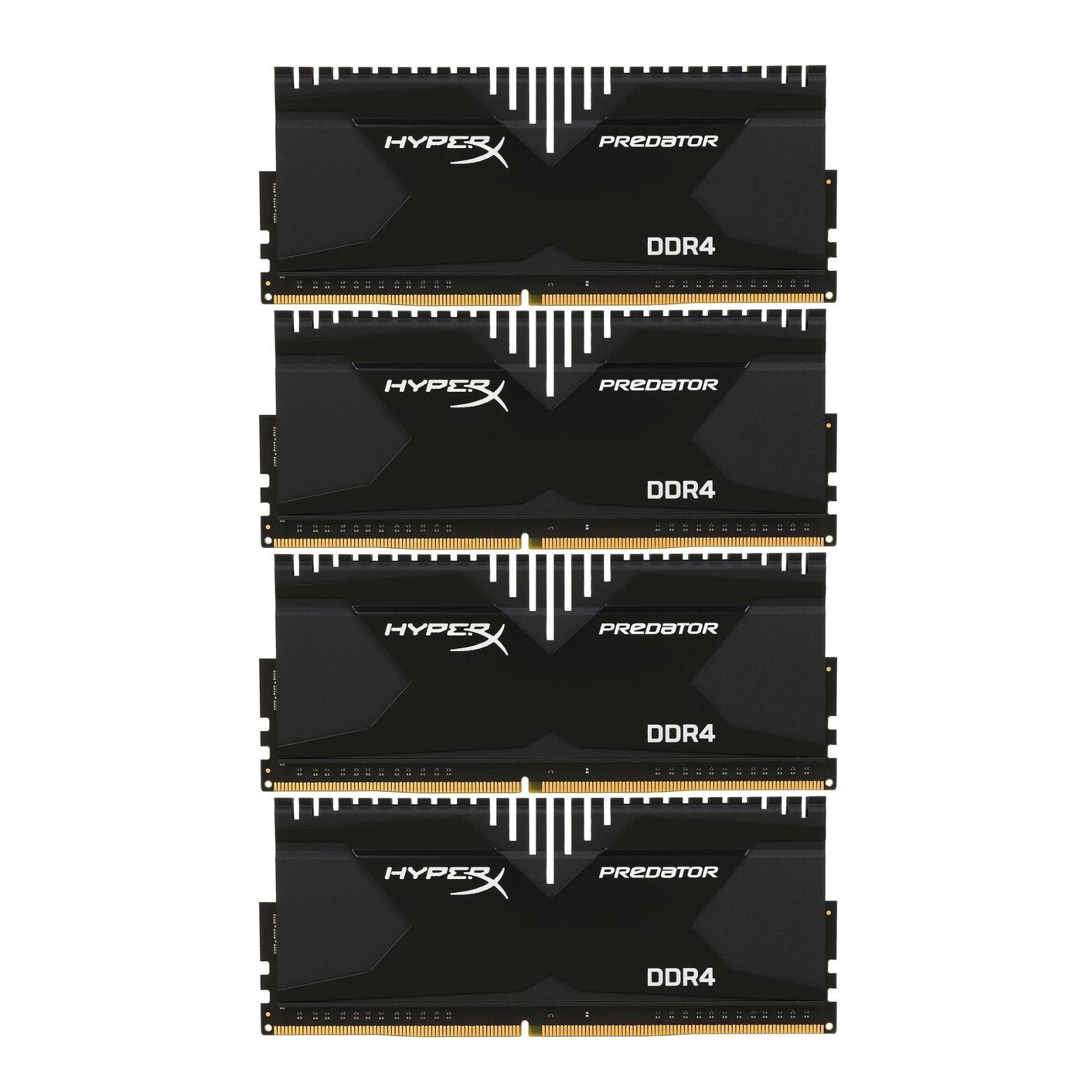 Модуль памяти для компьютера DDR4 32GB (4x8GB) 3000 MHz HyperX Predator Kingston (HX430C15PBK4/32)