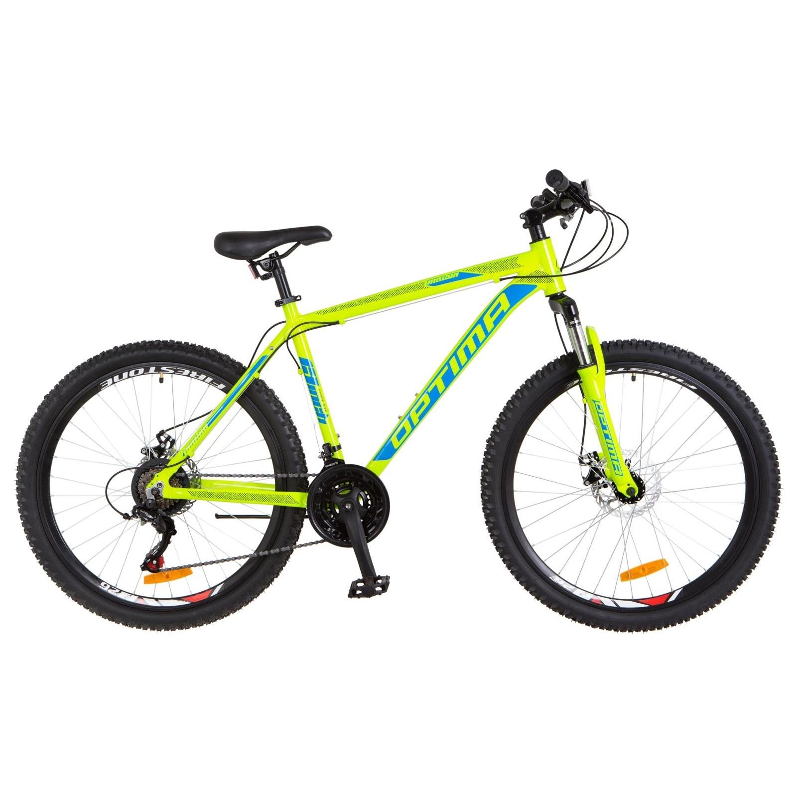 "Велосипед Optimabikes 26"" MOTION 2018 AM 14G DD рама-16"" Al салатово-синий (OPS-OP-26-117)"