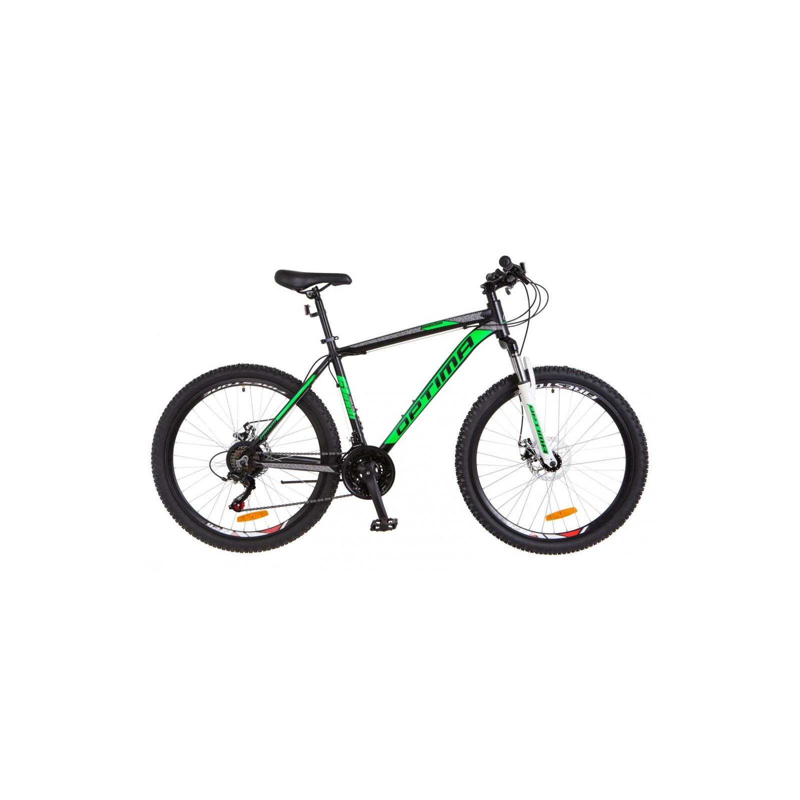"""Велосипед Optimabikes 29"""" MOTION 2018 AM 14G DD рама-21"""" Al черно-салатовый (OPS-OP-29-061)"""