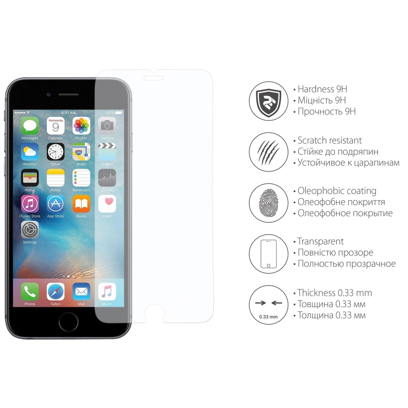Стекло защитное 2E для iPhone 6/6s 2.5D Clear (2E-TGIP-6/6S) изображение 3