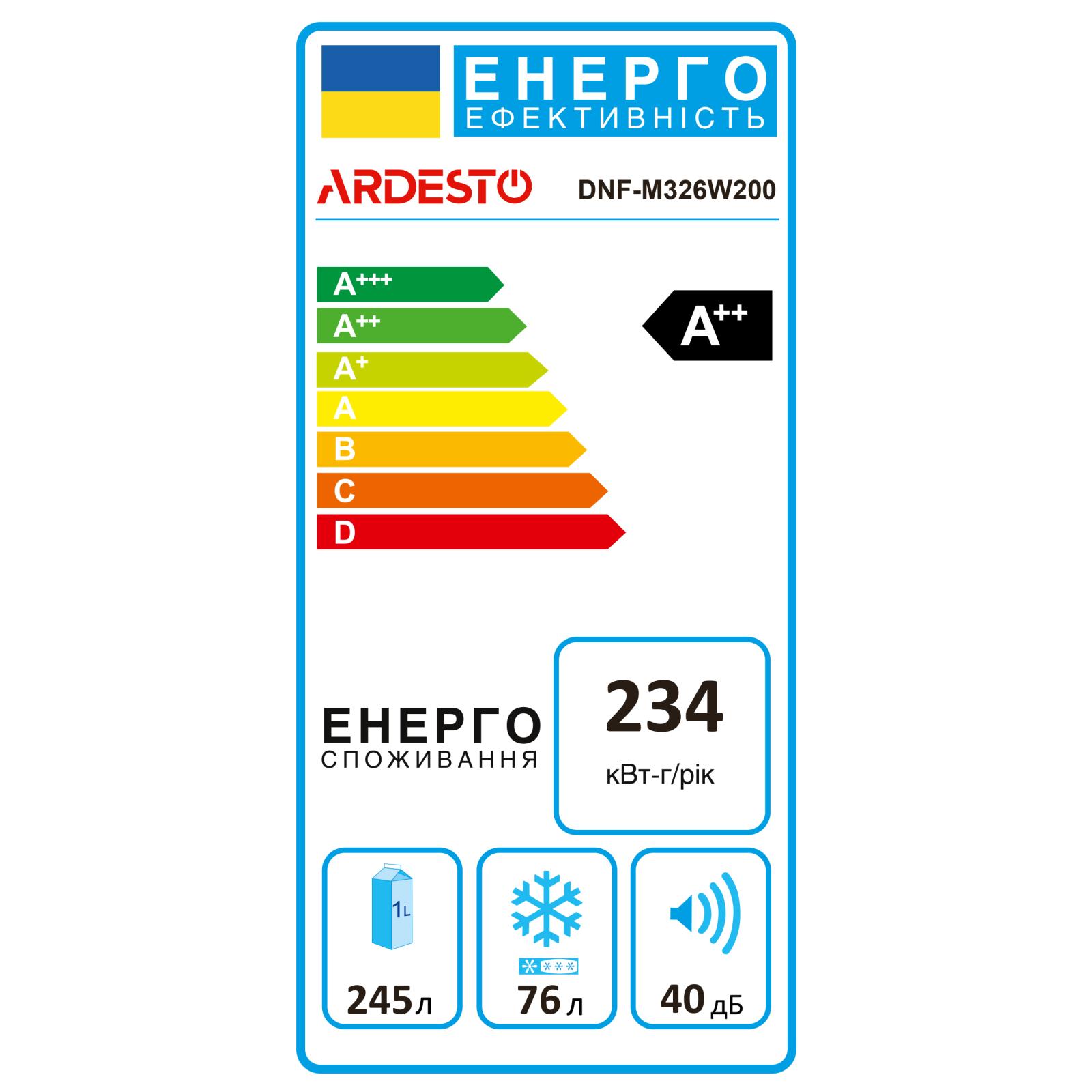 Холодильник Ardesto DNF-M326W200 зображення 6