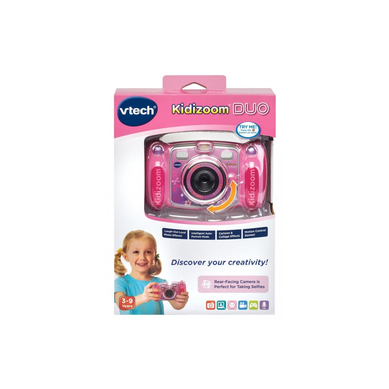 Интерактивная игрушка VTech Детская цифровая фотокамера Kidizoom Duo Pink (80-170853) изображение 7