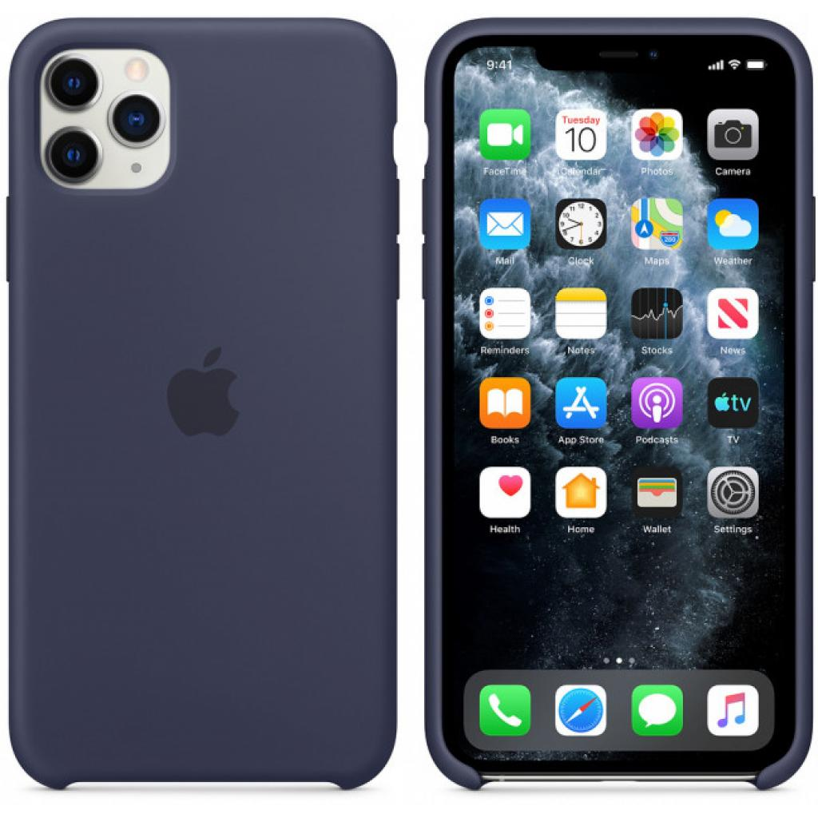 Чехол для моб. телефона Apple iPhone 11 Pro Max Silicone Case - Midnight Blue (MWYW2ZM/A) изображение 6