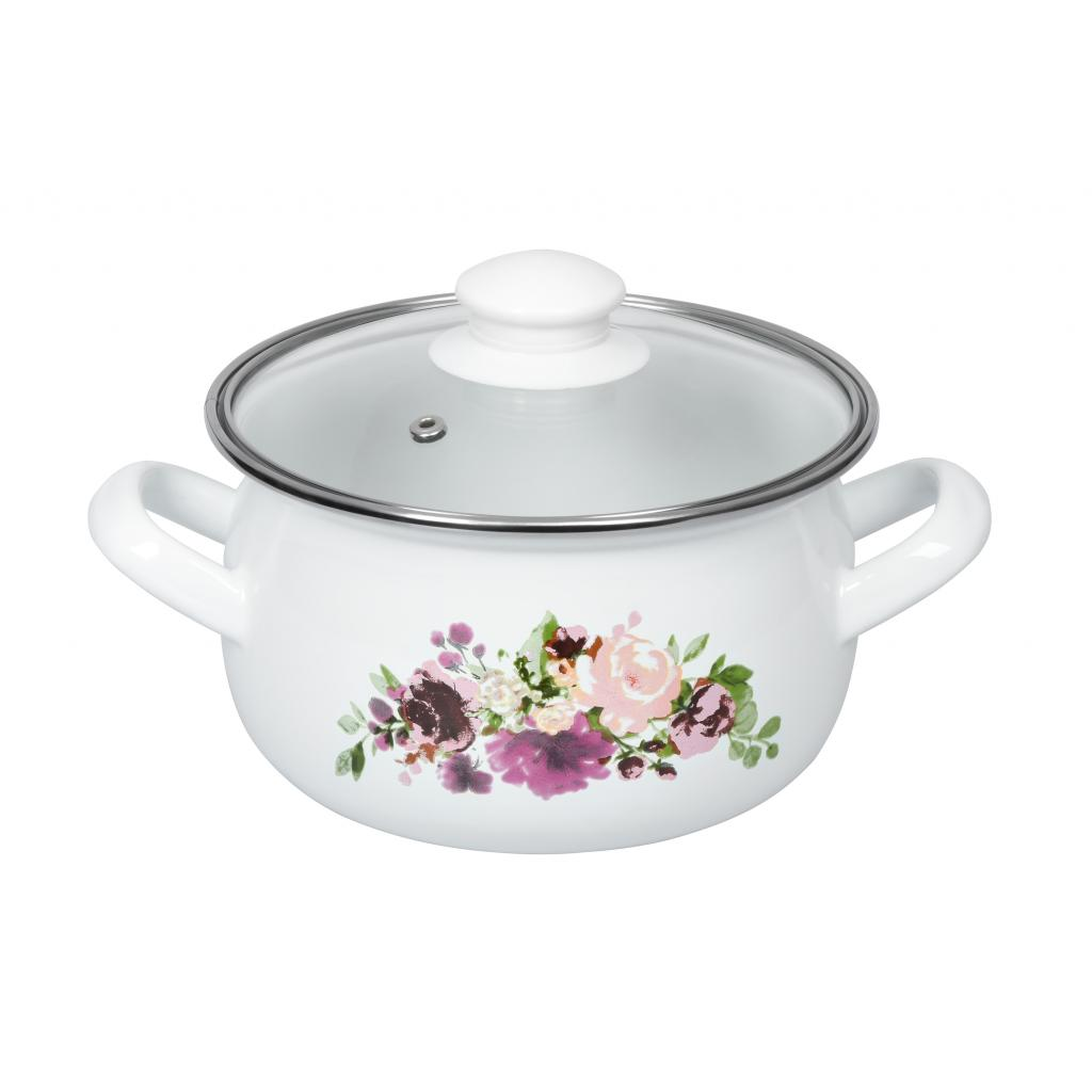 Кастрюля Ardesto Magic Flowers с крышкой 1,5 л (AR0115)