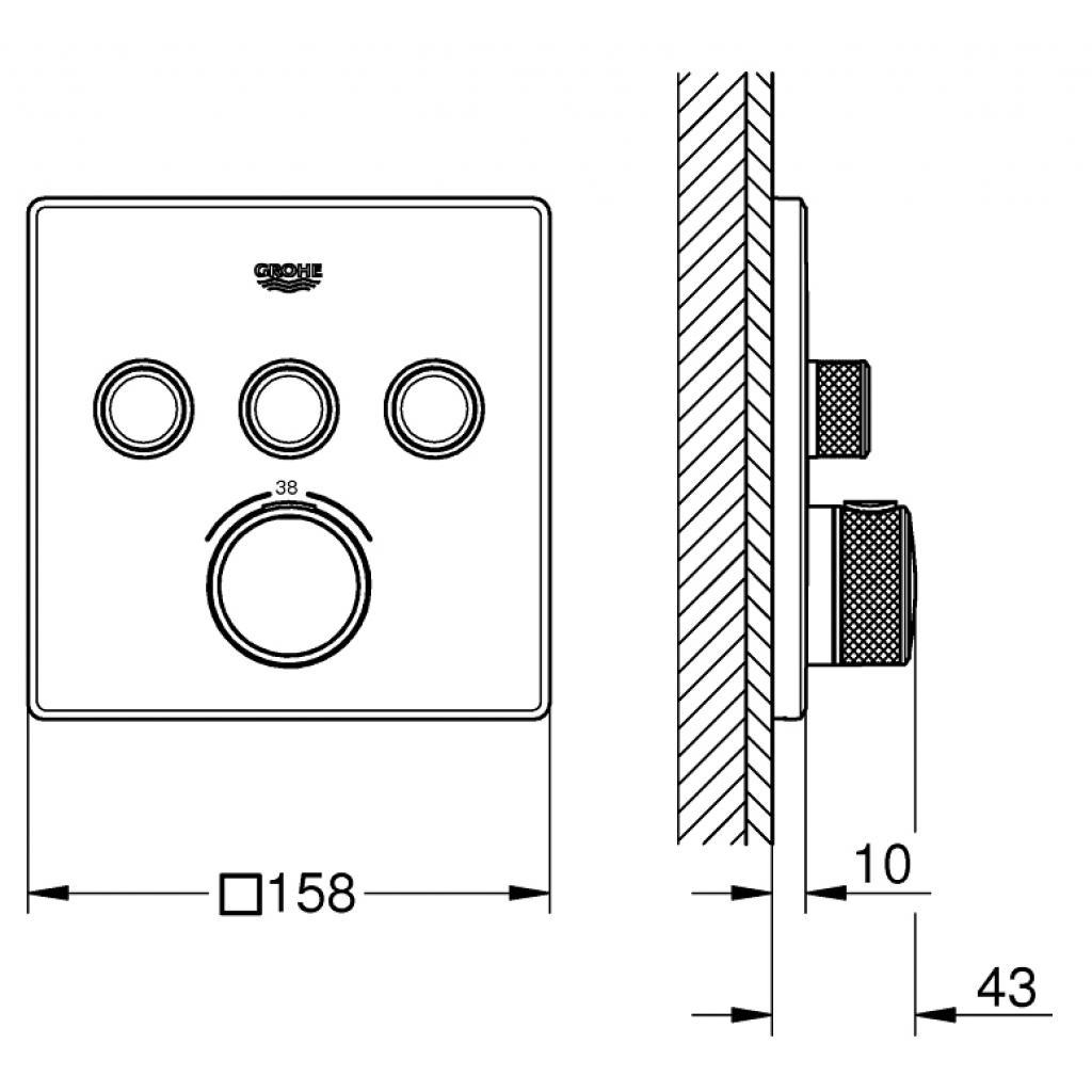 Термостатический смеситель Grohe GRT SmartControl (29126000) изображение 4