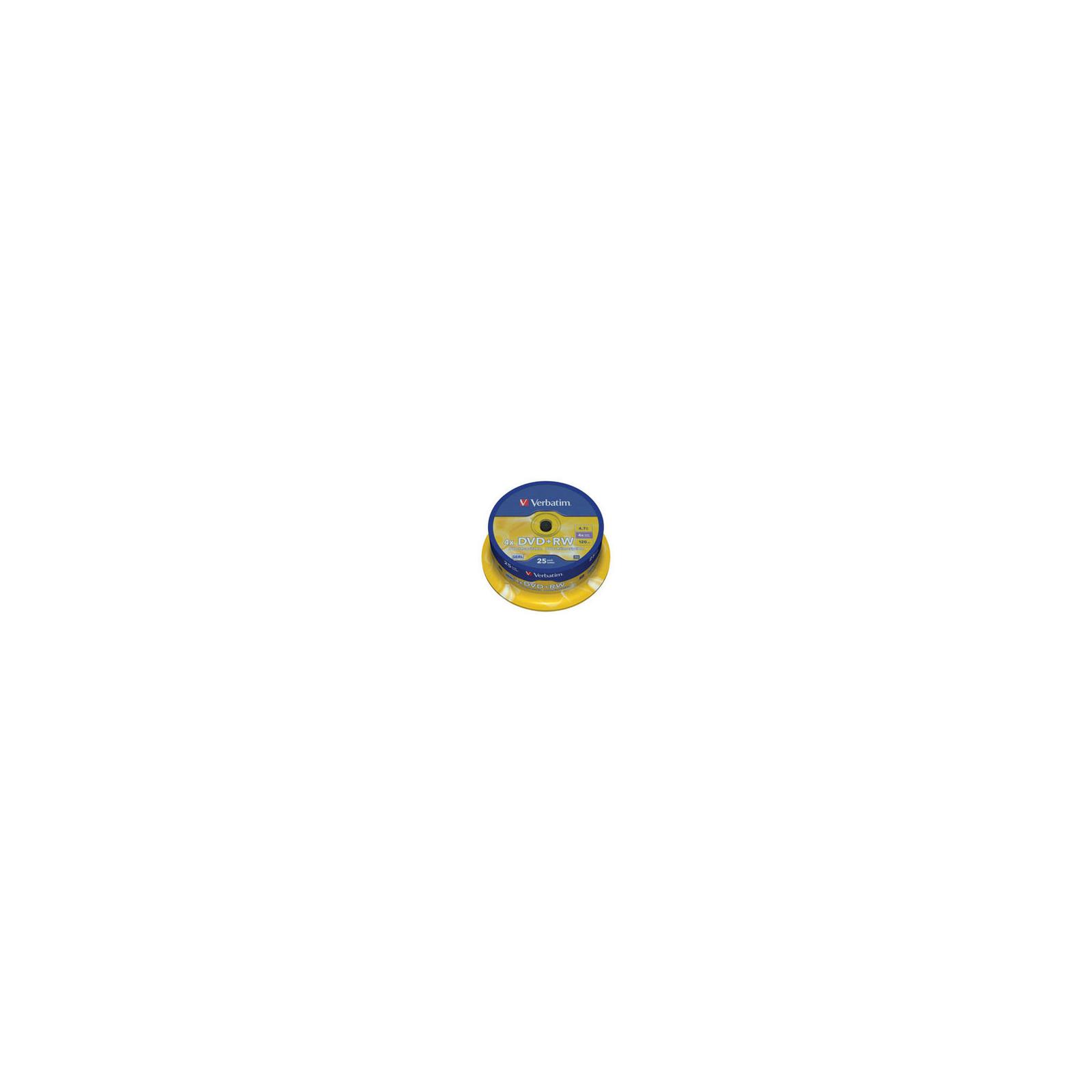 Диск DVD Verbatim 4.7Gb 4x CakeBox 25 шт silver (43489)
