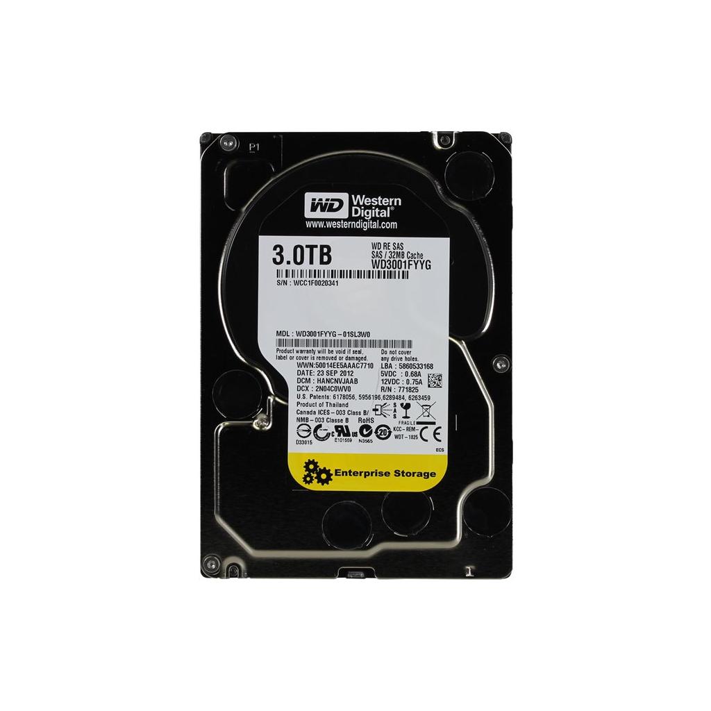 Жесткий диск для сервера 3TB Western Digital (WD3001FYYG)