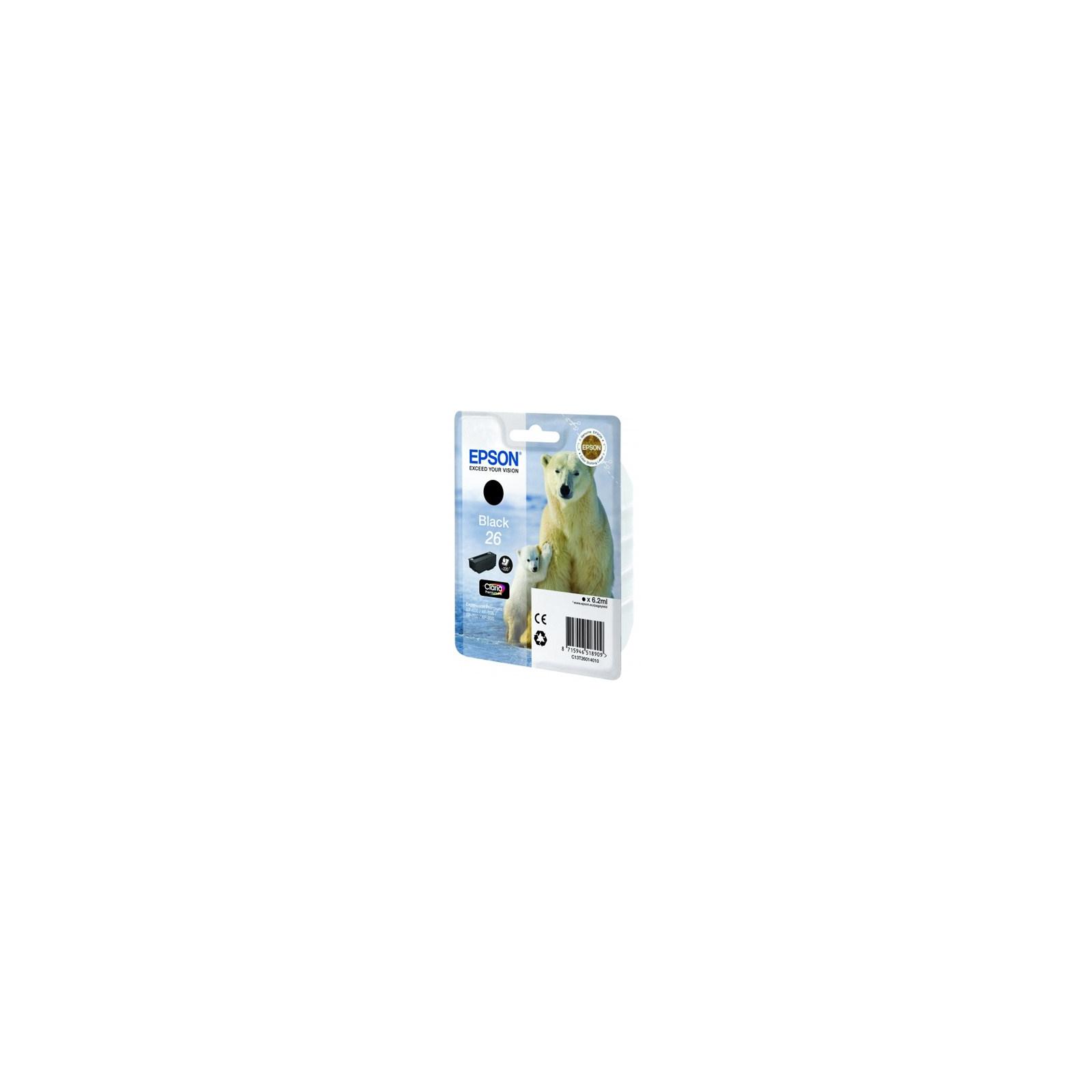Картридж EPSON 26 XP600/605/700 black pigment (C13T26014010)