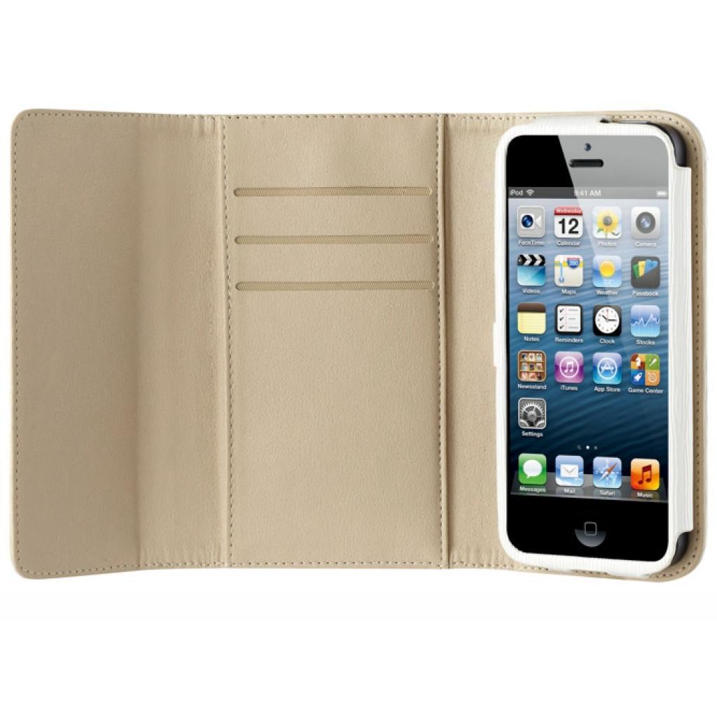 Чехол для моб. телефона OZAKI iPhone 5/5S O!coat Zippy Leather wallet White (OC570WH) изображение 3