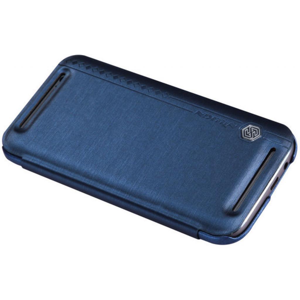 Чехол для моб. телефона для HTC ONE (M8) /Rain Leather Case/Blue NILLKIN (6138240) изображение 3
