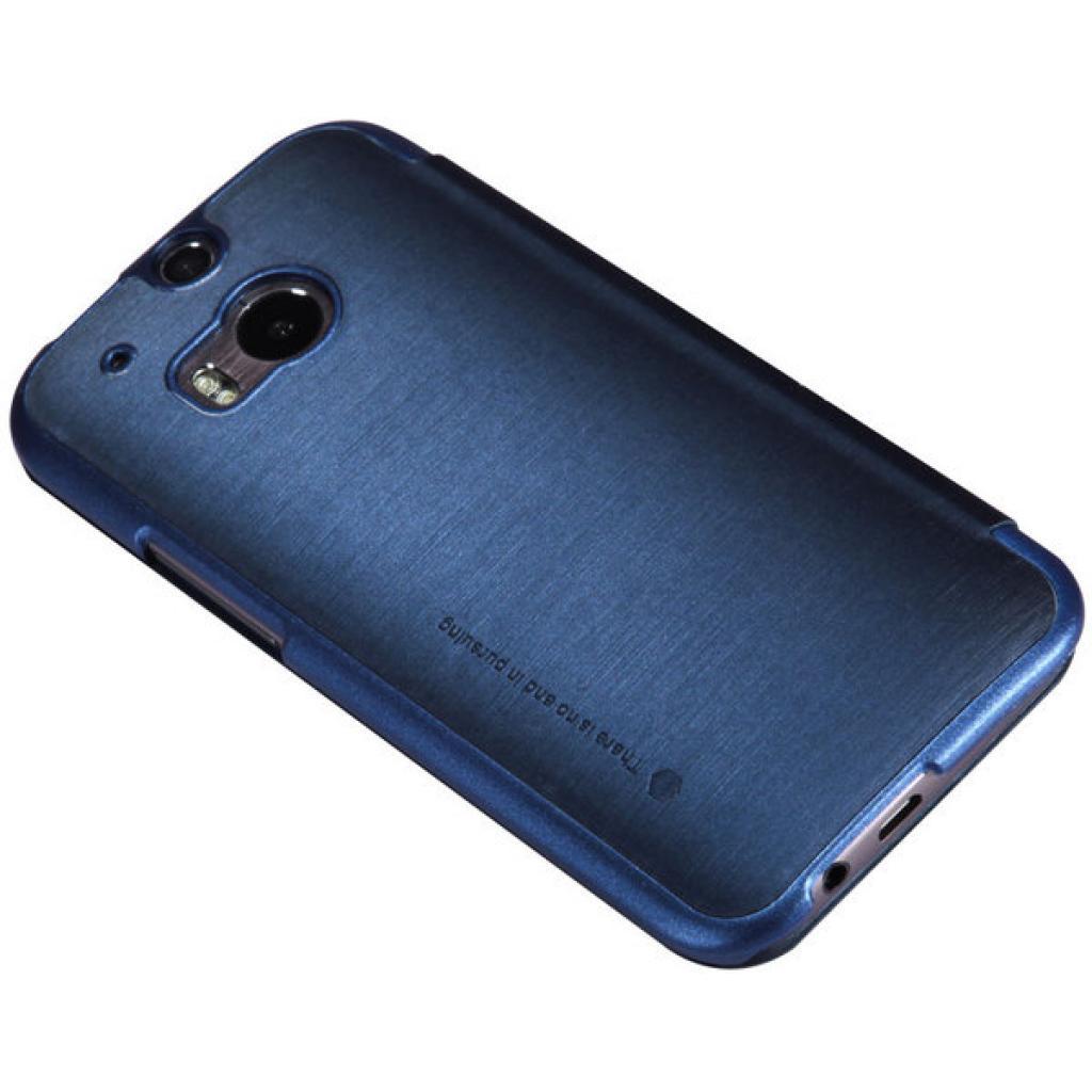 Чехол для моб. телефона для HTC ONE (M8) /Rain Leather Case/Blue NILLKIN (6138240) изображение 4