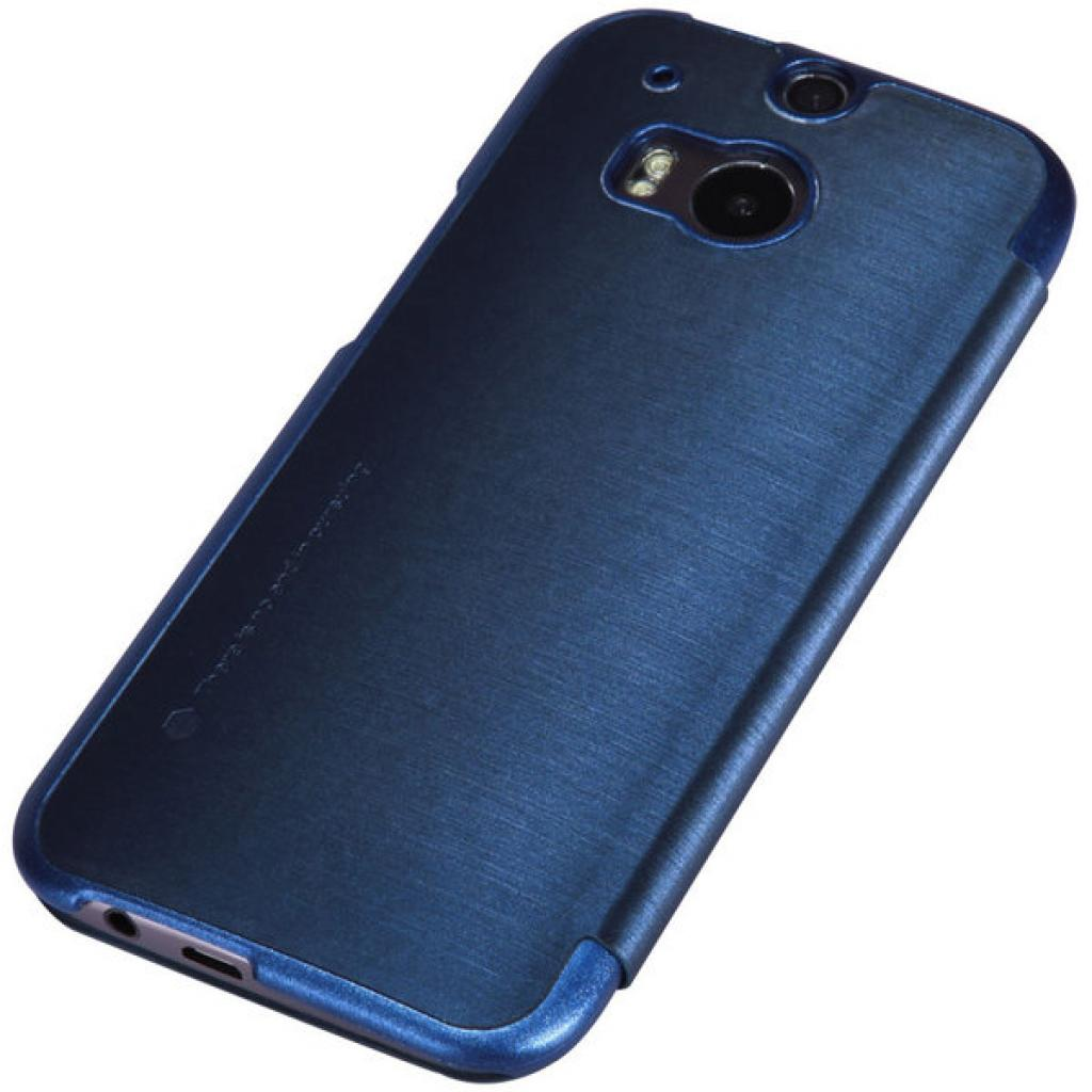 Чехол для моб. телефона для HTC ONE (M8) /Rain Leather Case/Blue NILLKIN (6138240) изображение 5