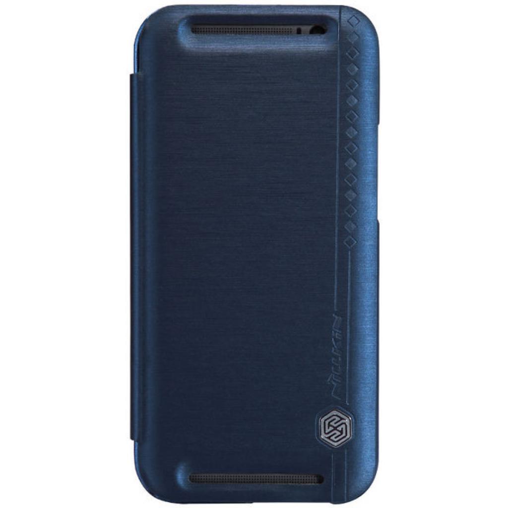 Чехол для моб. телефона для HTC ONE (M8) /Rain Leather Case/Blue NILLKIN (6138240)