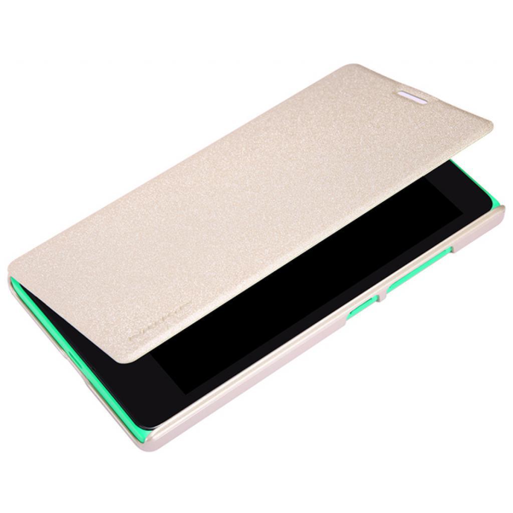 Чехол для моб. телефона NILLKIN для Nokia XL /Spark/ Leather/Golden (6164352) изображение 3