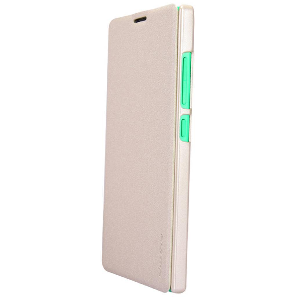 Чехол для моб. телефона NILLKIN для Nokia XL /Spark/ Leather/Golden (6164352) изображение 4