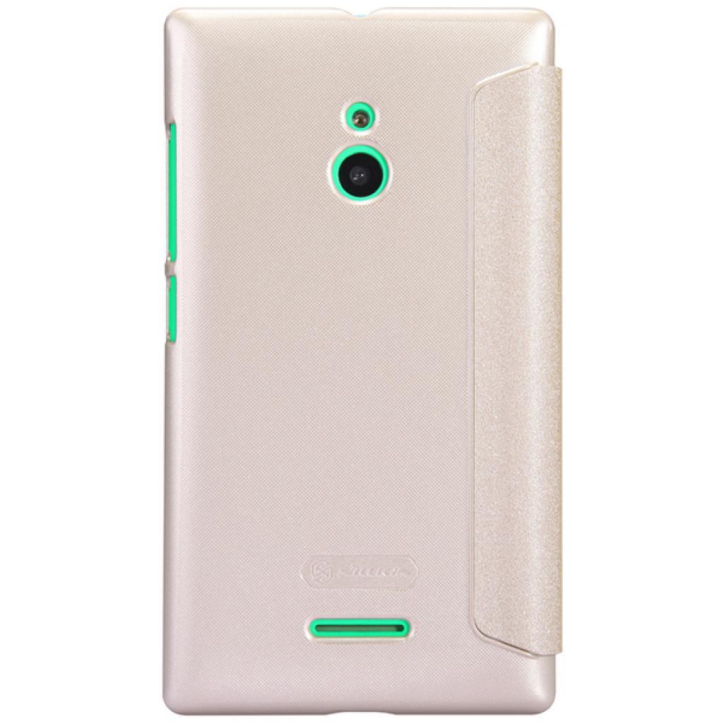 Чехол для моб. телефона NILLKIN для Nokia XL /Spark/ Leather/Golden (6164352) изображение 5