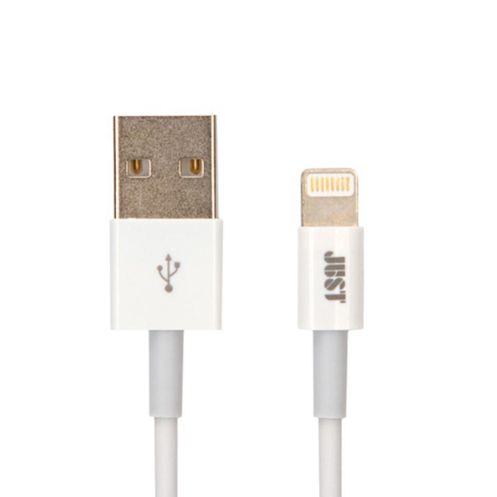 Дата кабель JUST Simple Lighting USB Cable White 1M (LGTNG-SMP10-WHT)