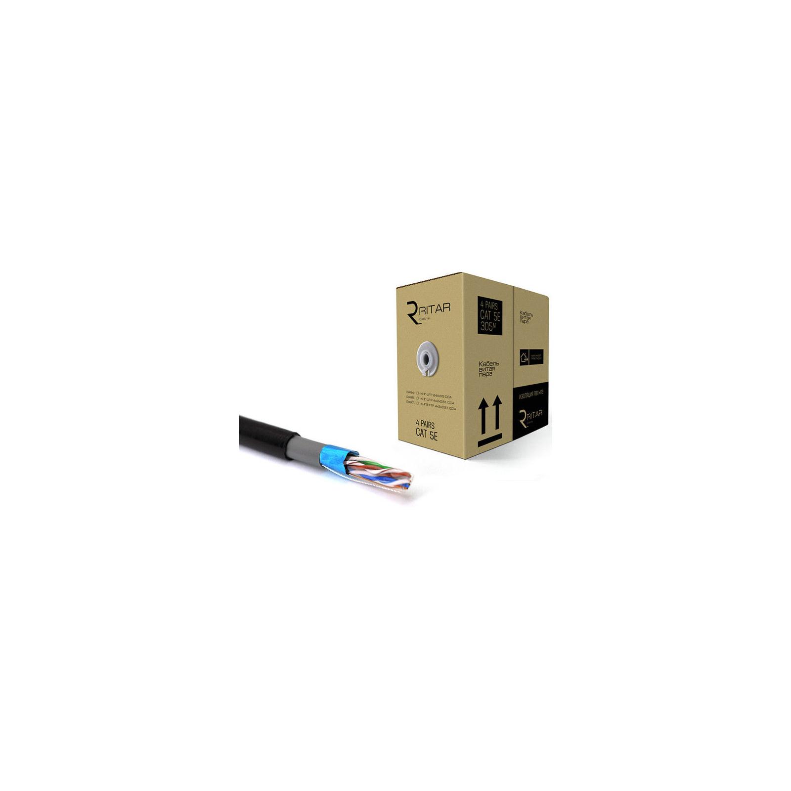 Кабель сетевой Ritar FTP 305м КНПЭ (4*2*0,51)[СCA] ПВХ+ПЭ, наружный (3497)