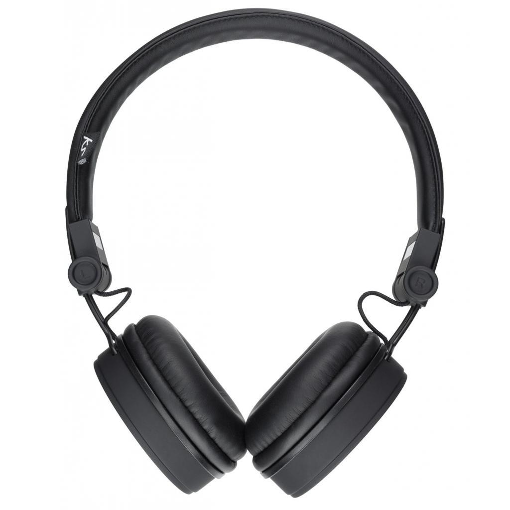 Наушники KitSound KS Malibu on-ear headphones with In-Line Mic Black (KSMALIBK) изображение 2