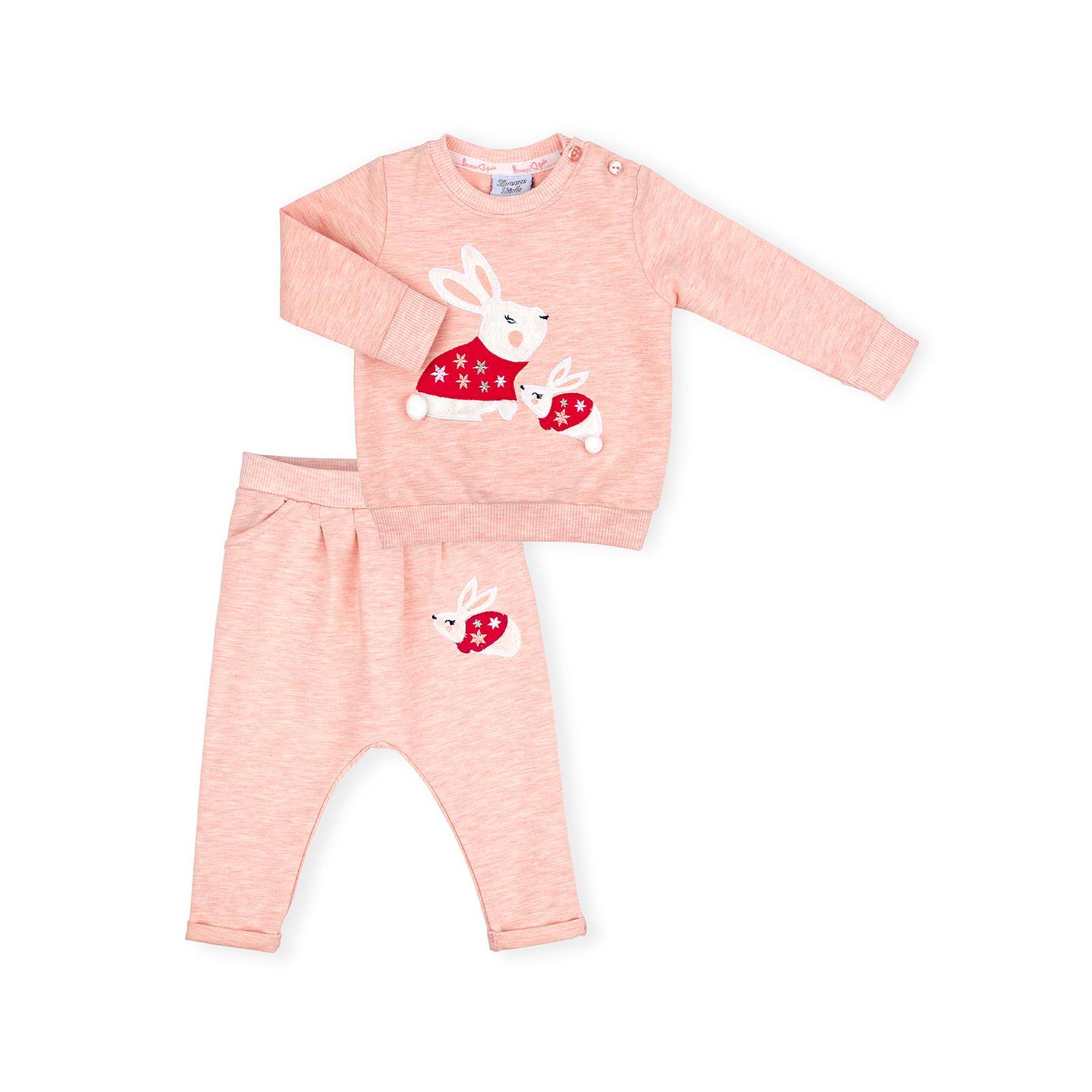 Набор детской одежды Breeze с зайчиками (10214-80G-peach)