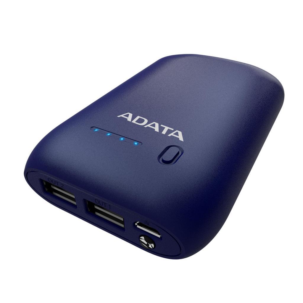 Батарея универсальная ADATA P10050 10050mAh DARK BLUE (AP10050-DUSB-5V-CDB) изображение 5