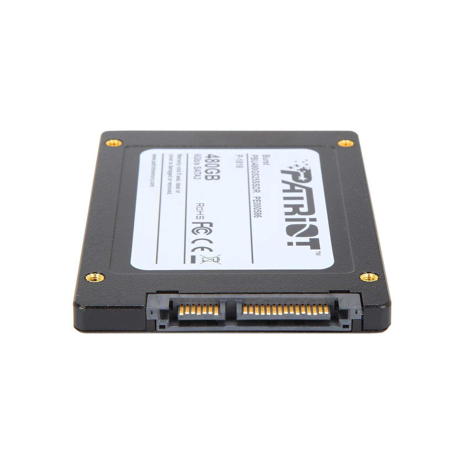 """Накопичувач SSD 2.5"""" 480GB Patriot (PBU480GS25SSDR) зображення 4"""