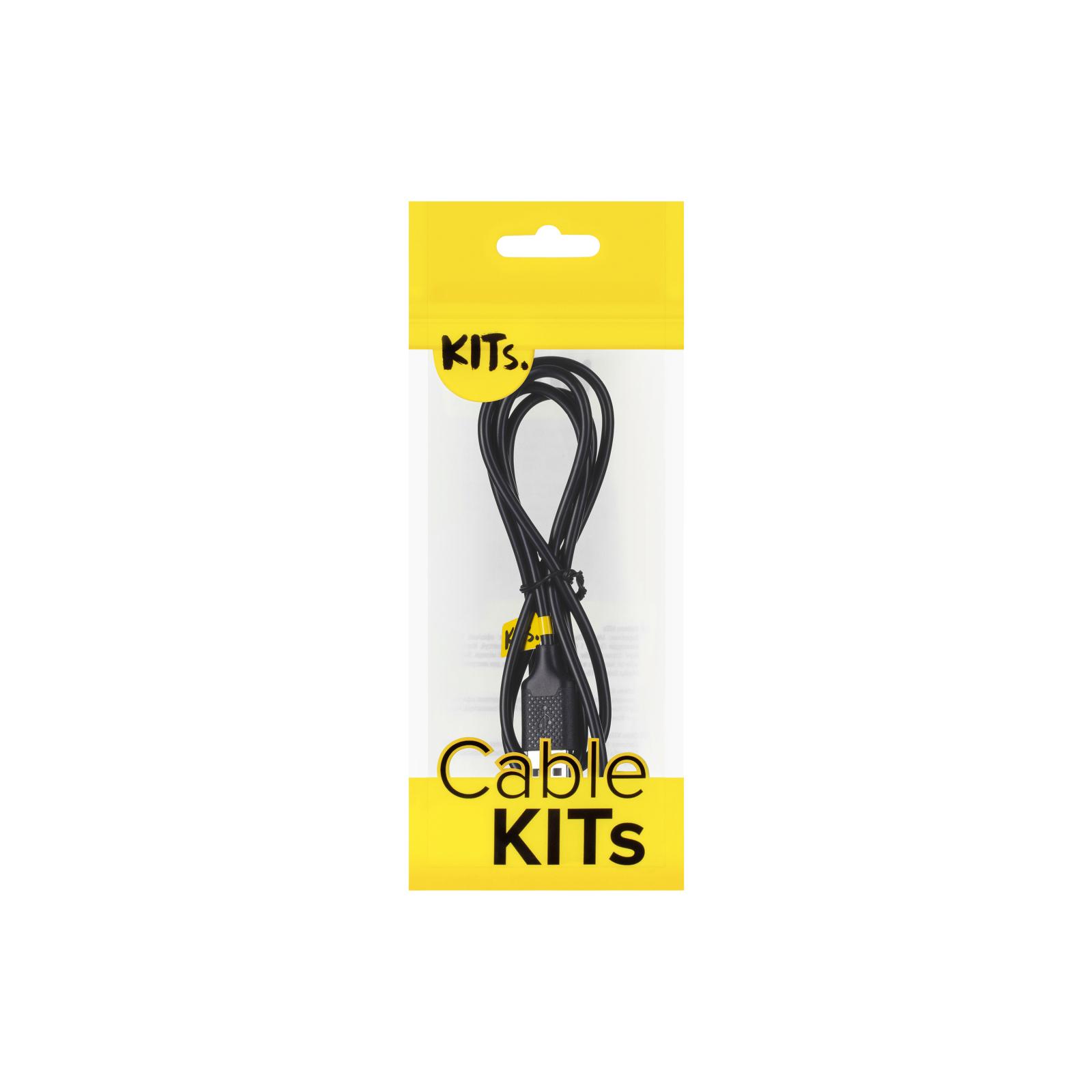 Дата кабель USB 2.0 AM to Lightning 1.0m 2A Kit (KITS-W-003) изображение 3