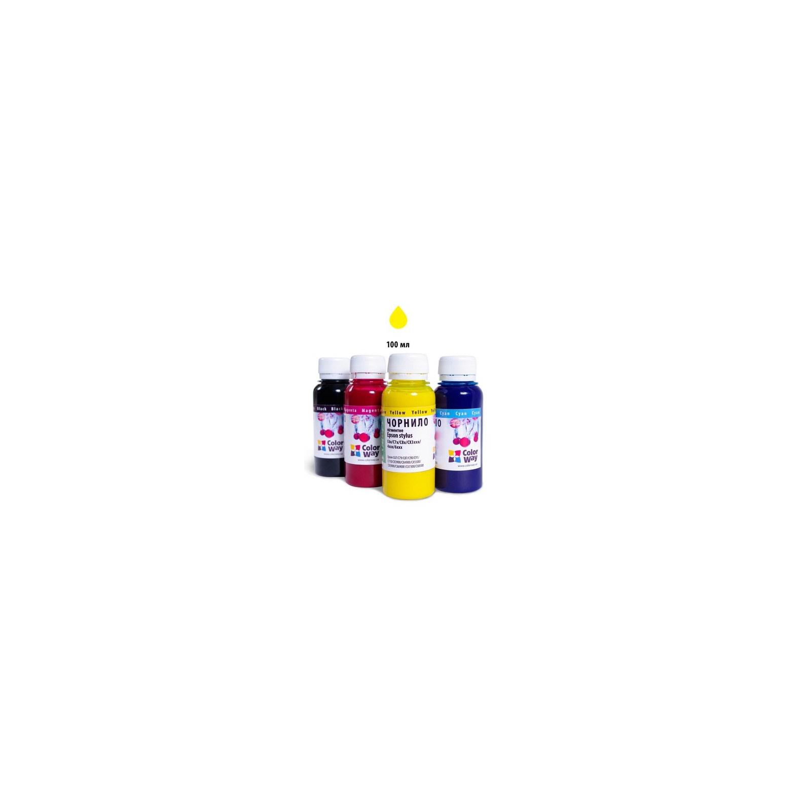 Чернила ColorWay Epson SP R270/290 RX500 TX650 Yello (CW-EW650Y01)