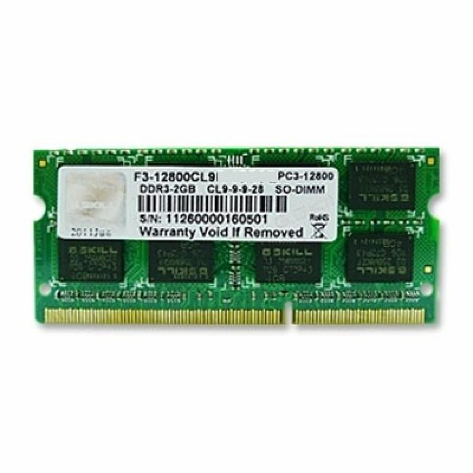 Модуль памяти для ноутбука SoDIMM DDR3 2GB 1600 MHz G.Skill (F3-12800CL9S-2GBSQ)