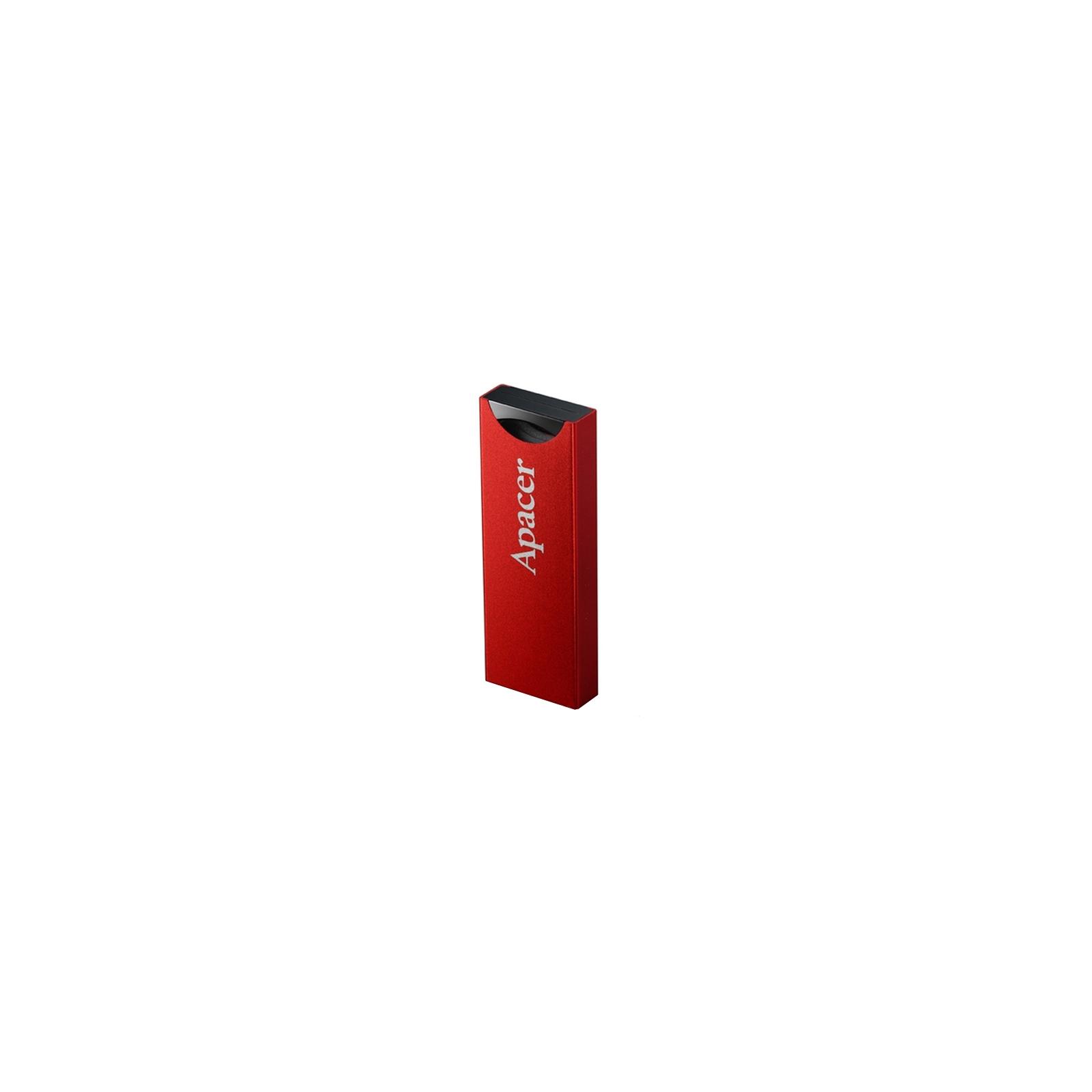USB флеш накопитель 32GB AH133 Red RP USB2.0 Apacer (AP32GAH133R-1) изображение 2