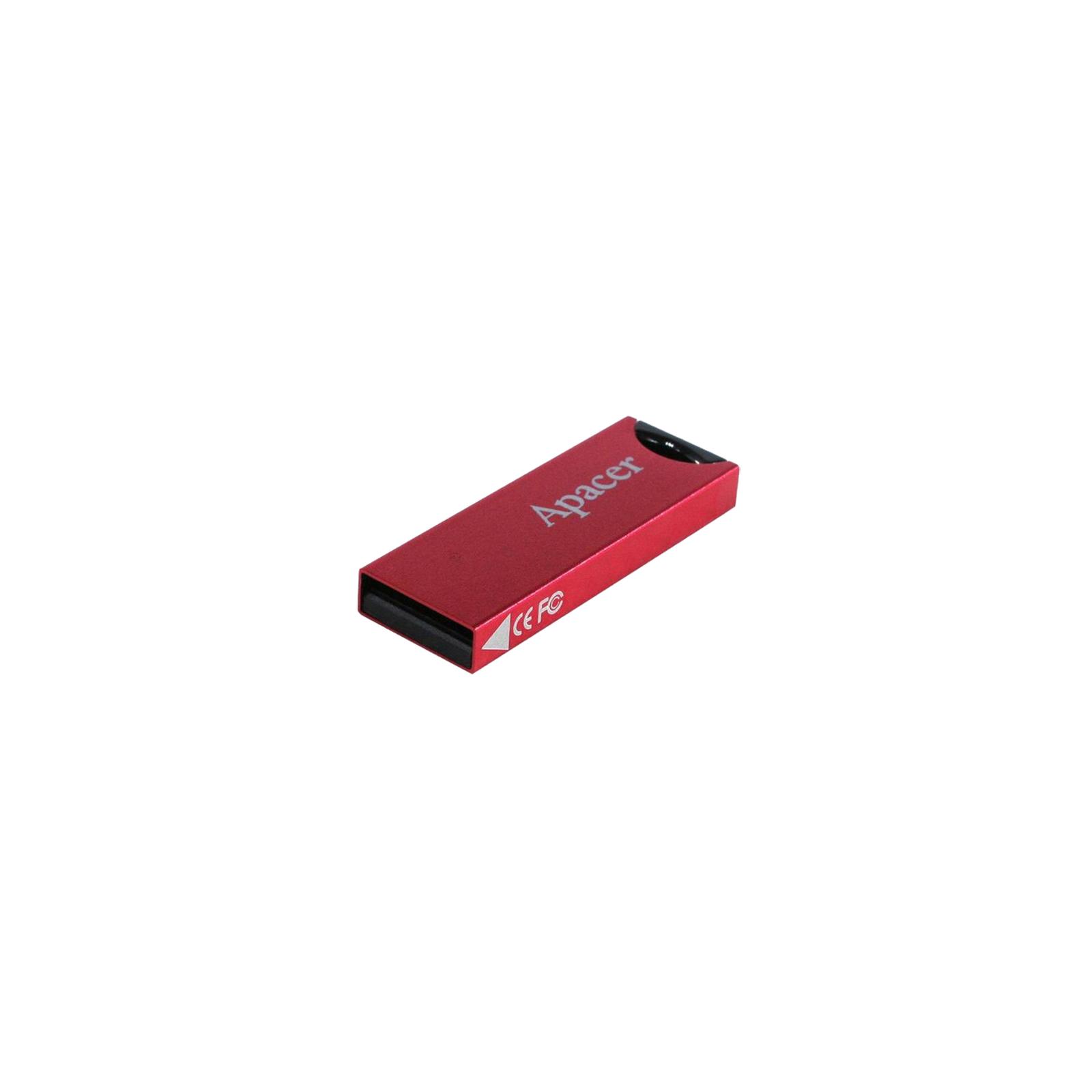 USB флеш накопитель 32GB AH133 Red RP USB2.0 Apacer (AP32GAH133R-1) изображение 3