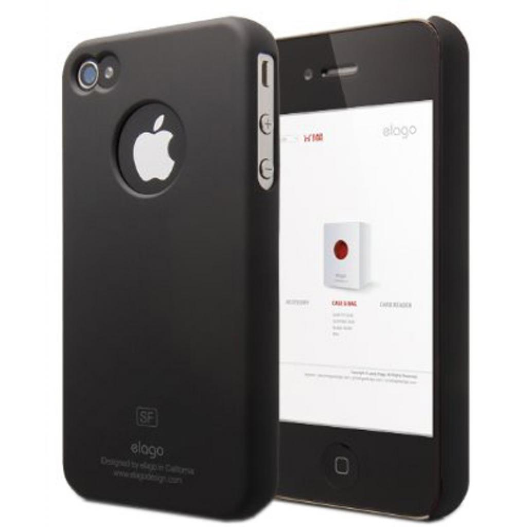 Чехол для моб. телефона ELAGO для iPhone 4/4S /Slim Fit/Black (EL-S4SM-BK-PL)