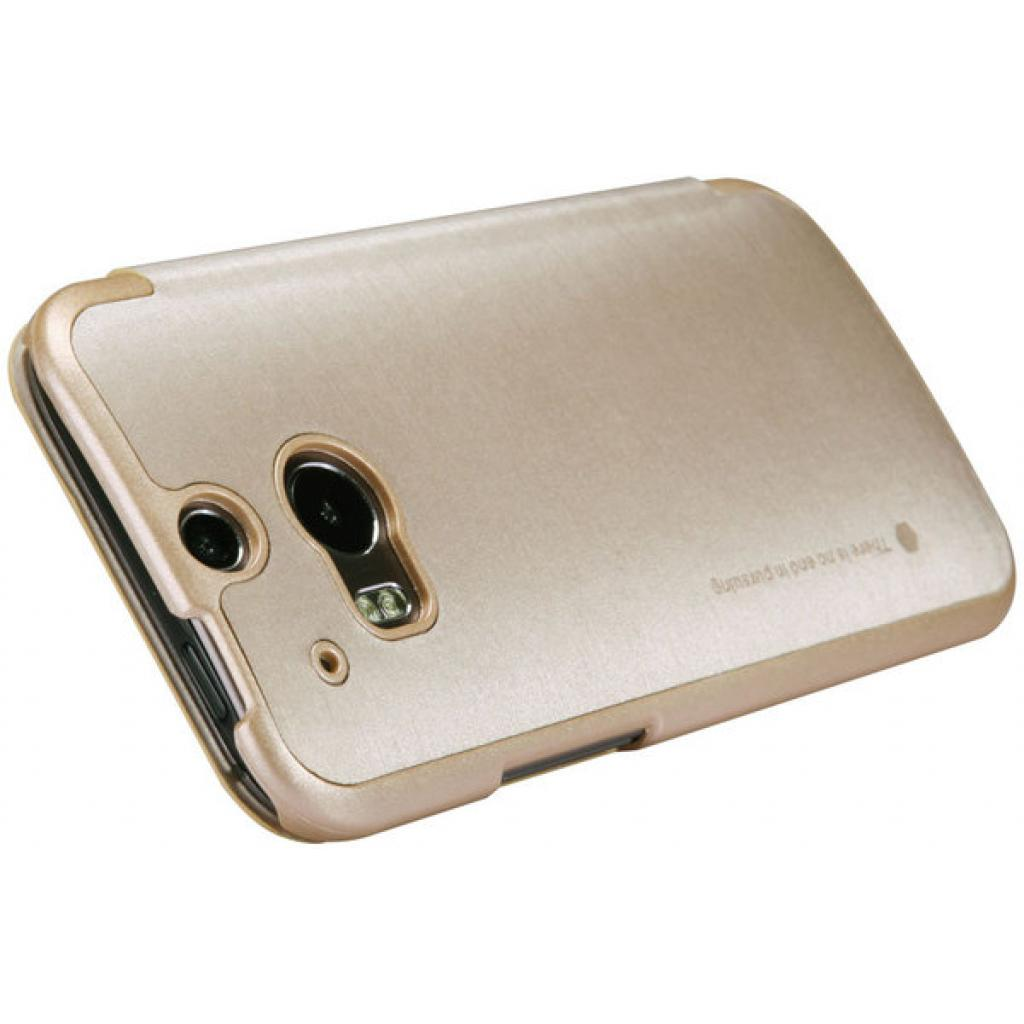 Чехол для моб. телефона для HTC ONE (M8) /Rain Leather Case/Gold NILLKIN (6138243) изображение 4