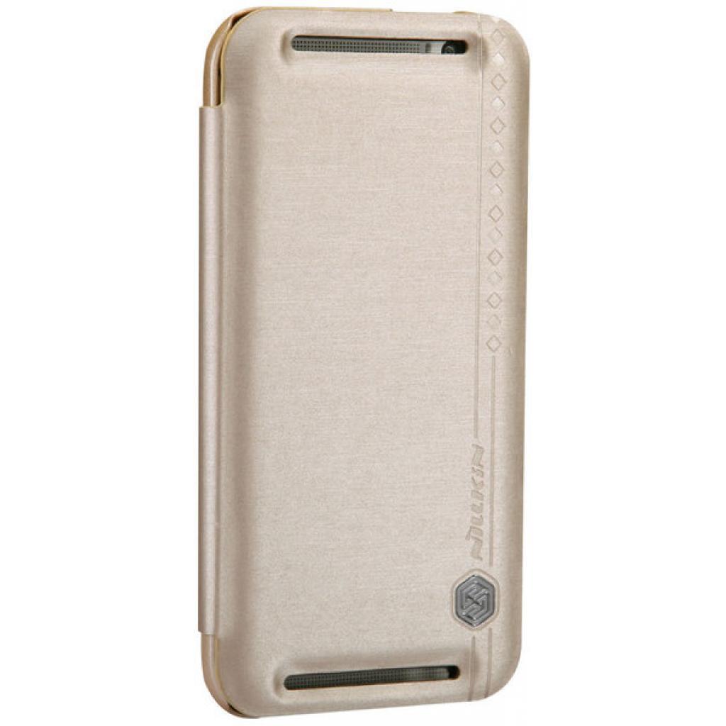 Чехол для моб. телефона для HTC ONE (M8) /Rain Leather Case/Gold NILLKIN (6138243) изображение 5