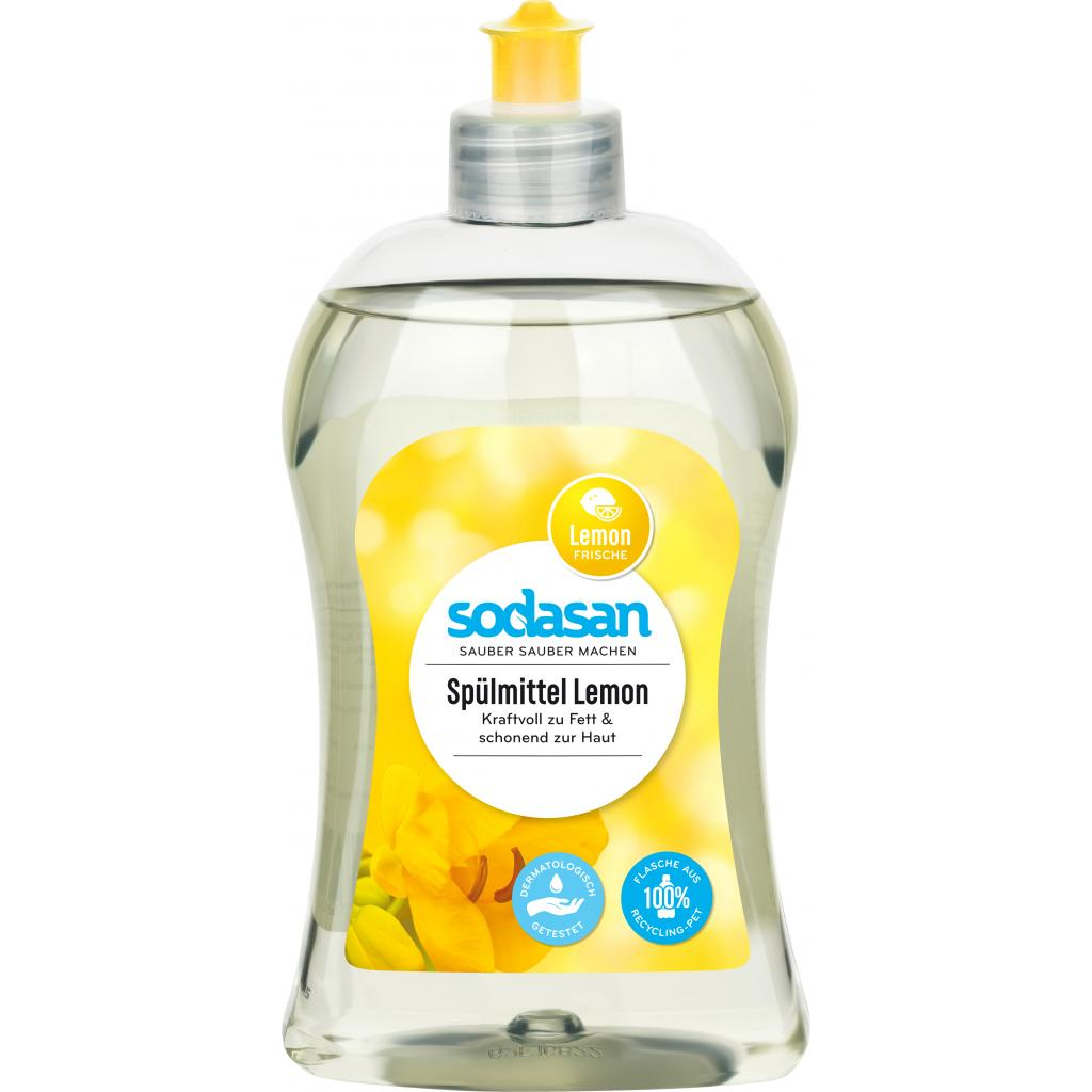 Средство для мытья посуды Sodasan органическое Лимон 500 мл (4019886000239)