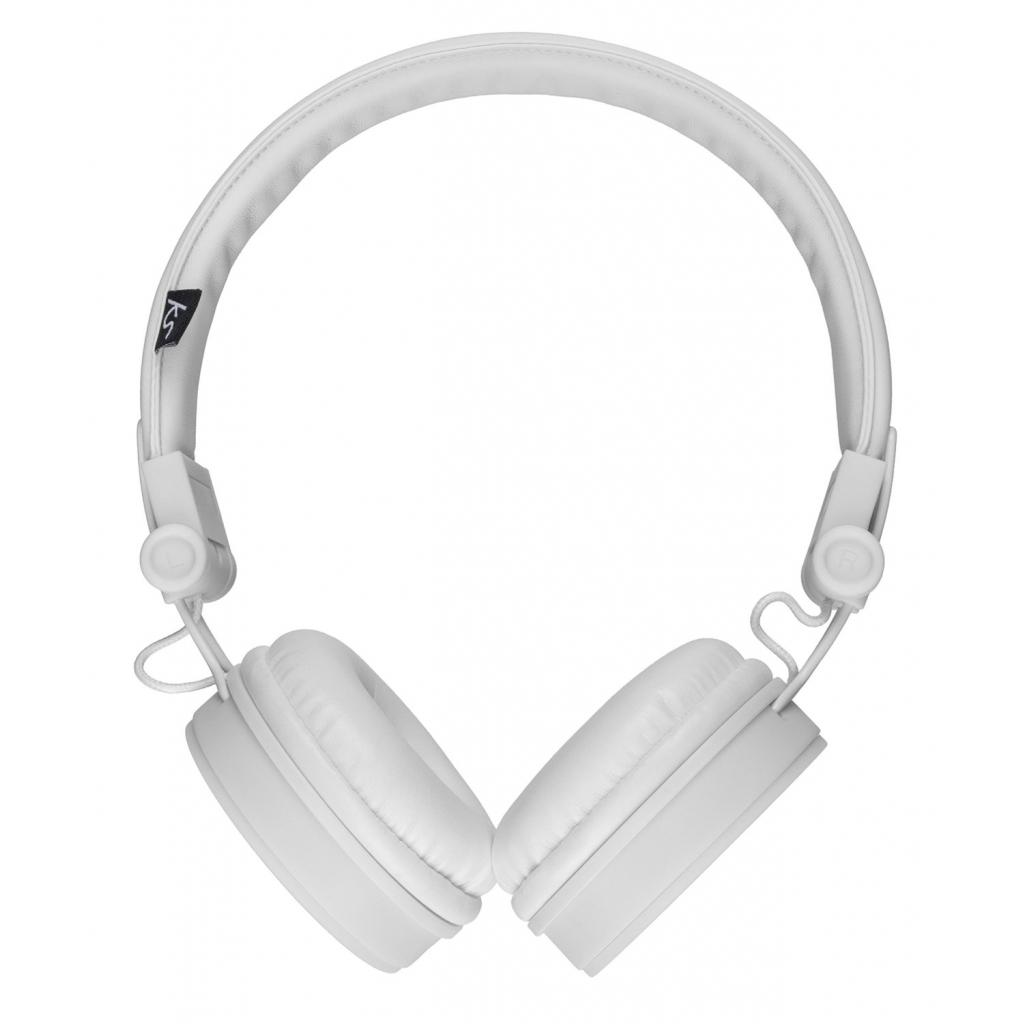 Наушники KitSound KS Malibu on-ear headphones with In-Line Mic White (KSMALIWH) изображение 2