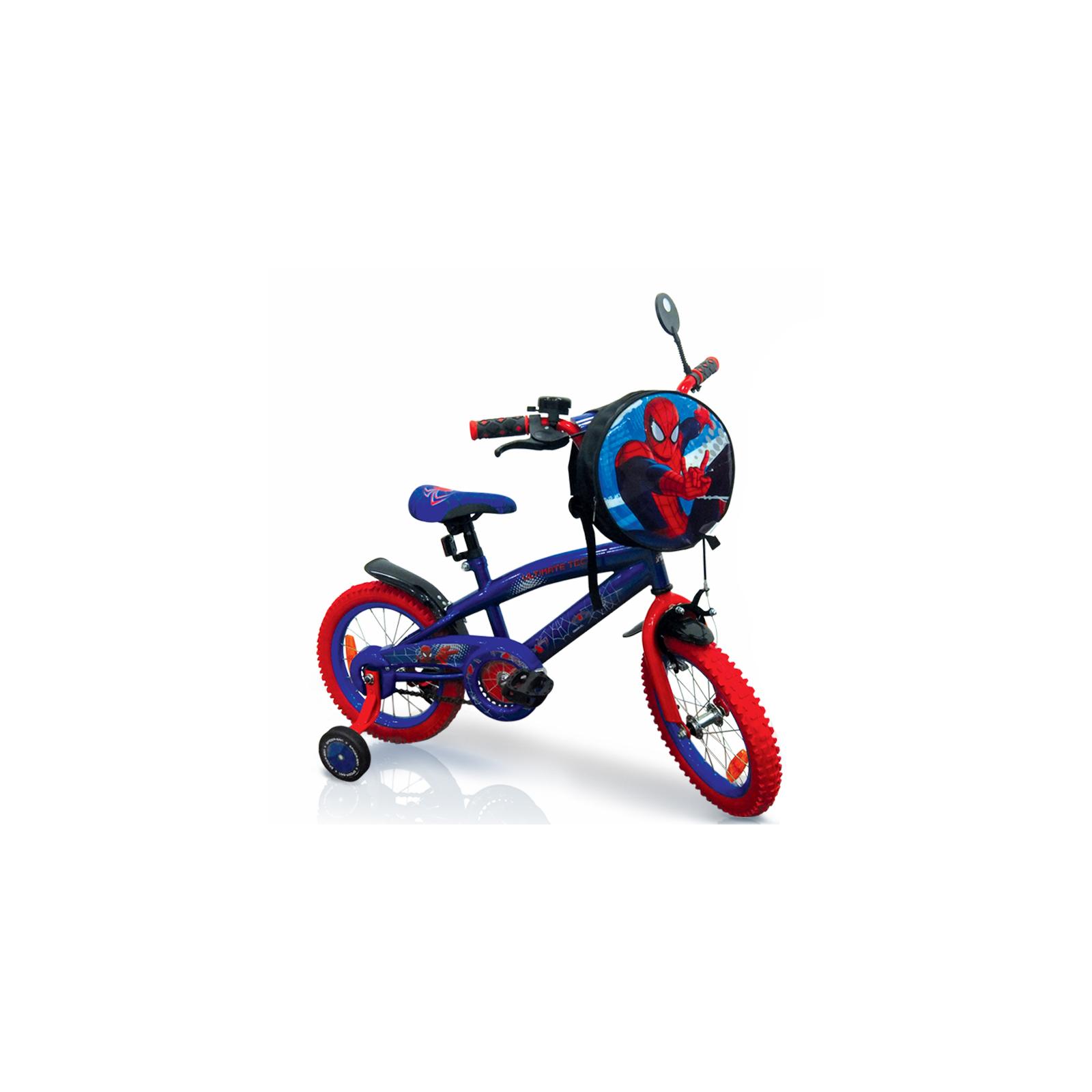 "Детский велосипед Disney 14"" Marvel Spider Man со звонком и зеркалом (SP1401)"