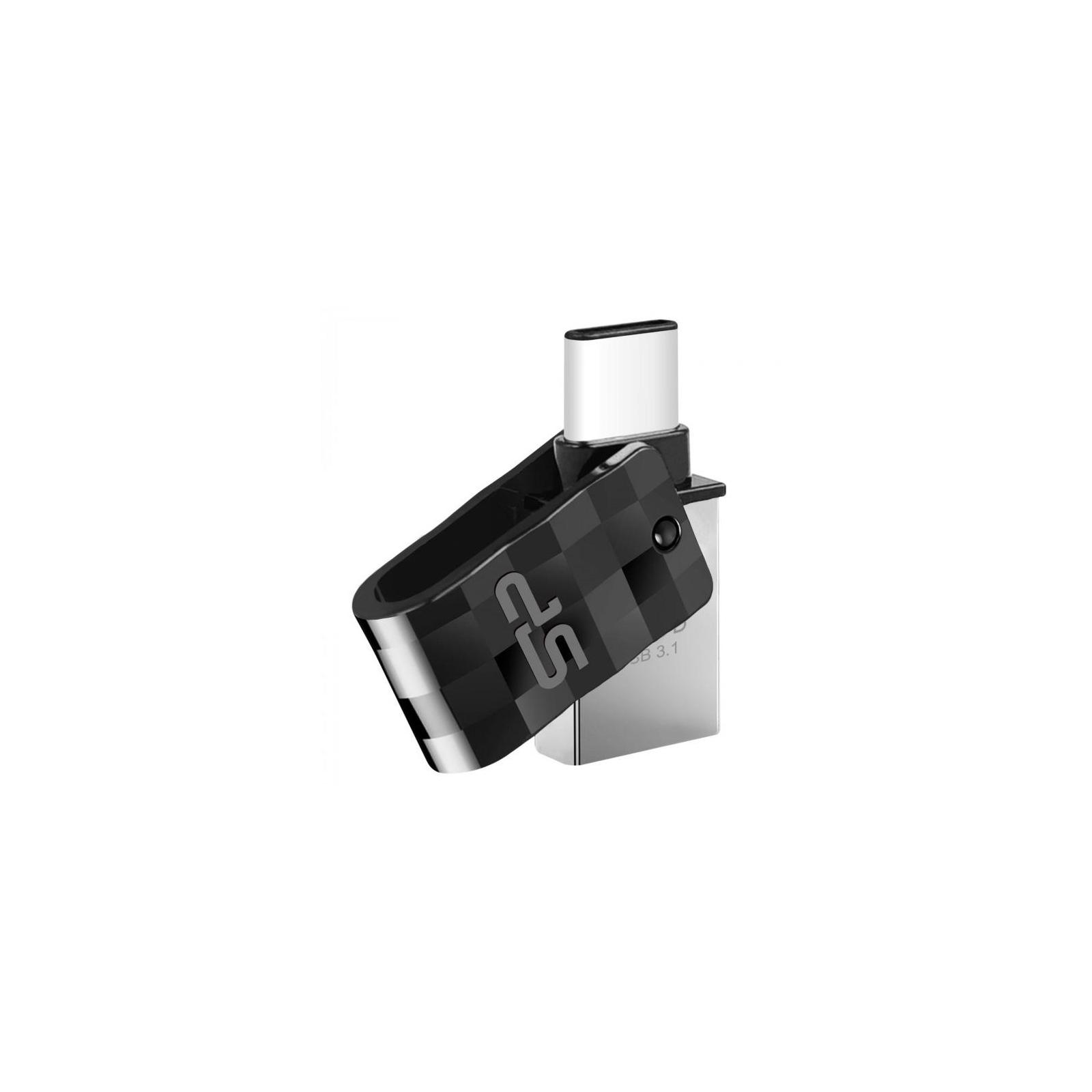 USB флеш накопитель Silicon Power 64GB Mobile C31 USB 3.1 / USB Type-C (SP064GBUC3C31V1K) изображение 2