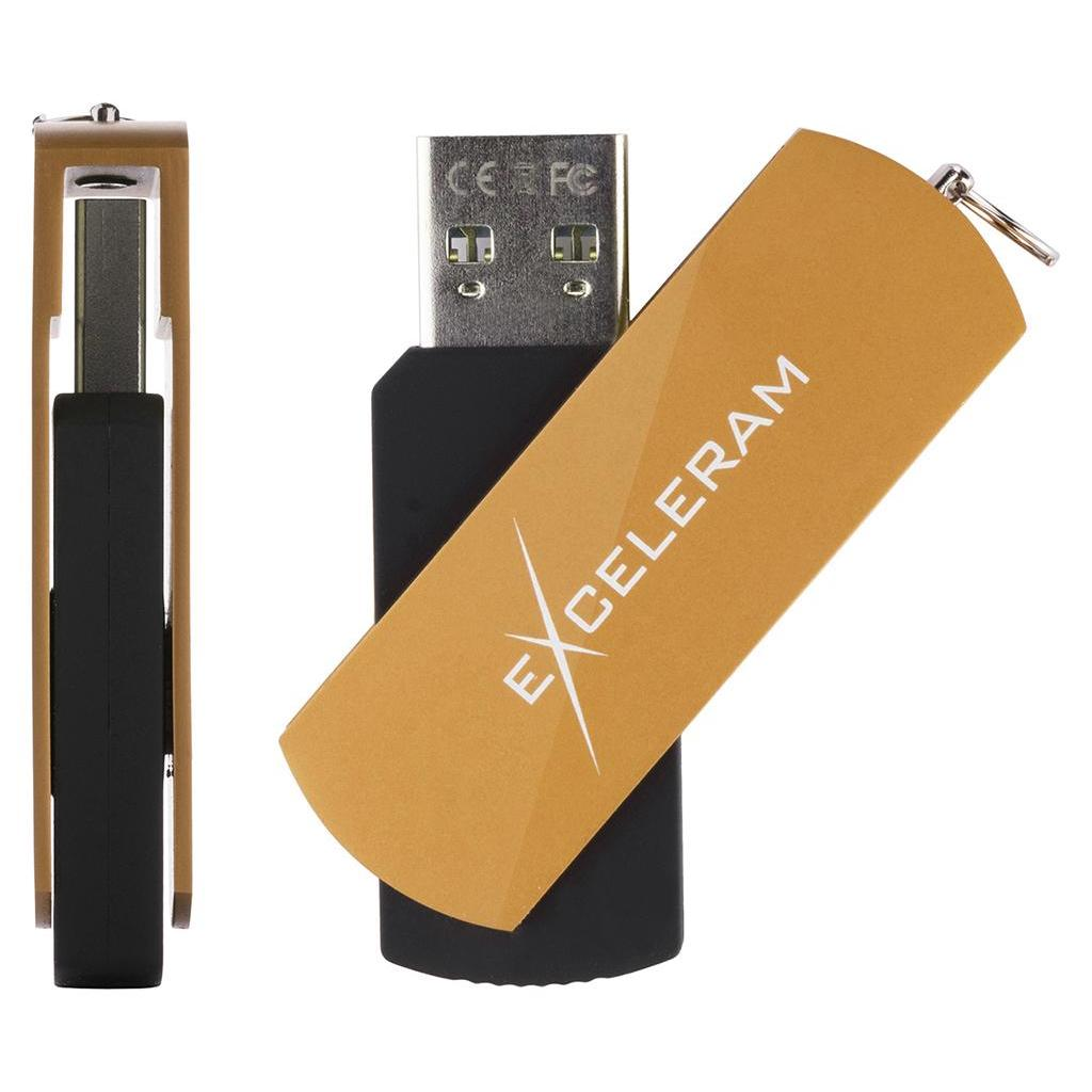 USB флеш накопитель eXceleram 32GB P2 Series Black/Black USB 3.1 Gen 1 (EXP2U3BB32) изображение 4
