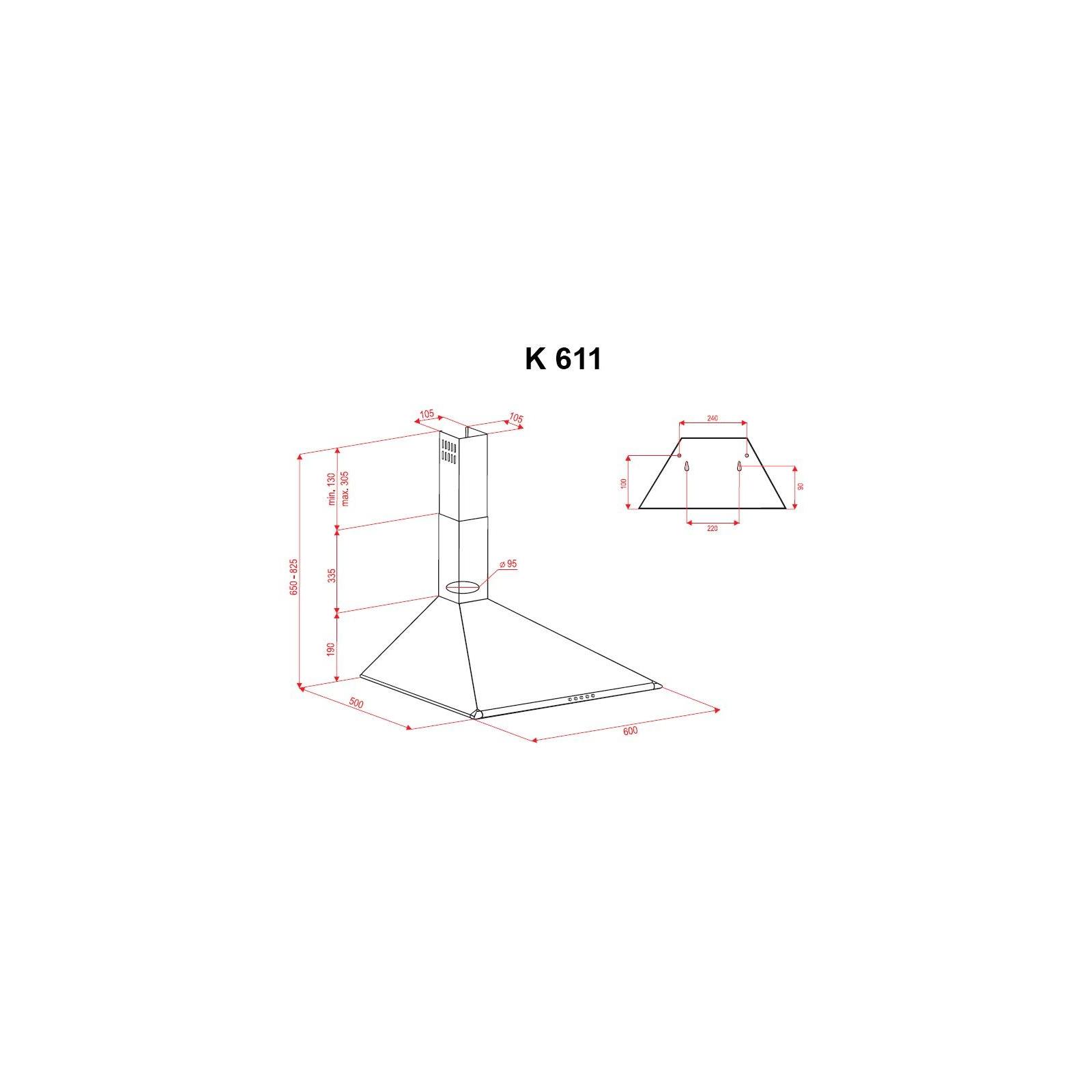 Вытяжка кухонная PERFELLI K 611 BL изображение 7