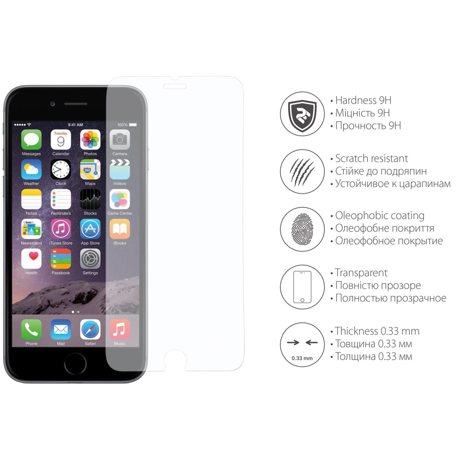 Стекло защитное 2E для iPhone Plus 6/6s 2.5D Clear (2E-TGIP-6/6SP) изображение 3