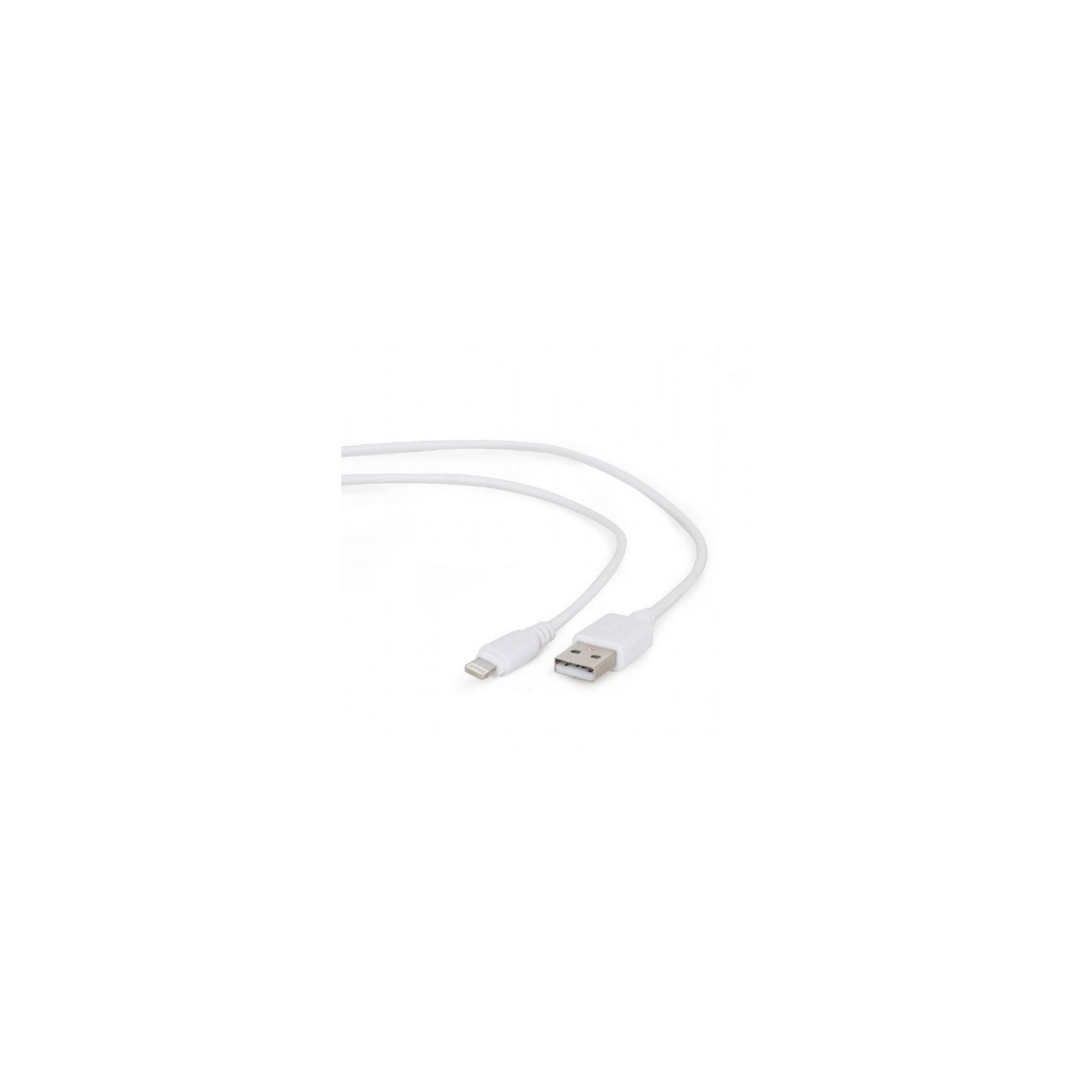 Дата кабель USB 2.0 AM to Lightning 0.1m Cablexpert (CC-USB2-AMLM-W-0.1M)