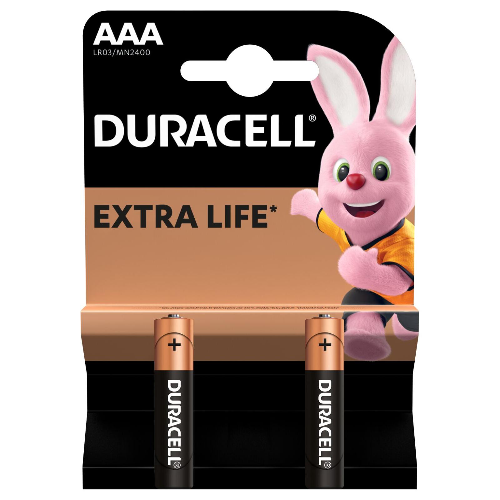 Батарейка Duracell AAA MN2400 LR03 * 2 (5000394058170 / 81484984) изображение 2