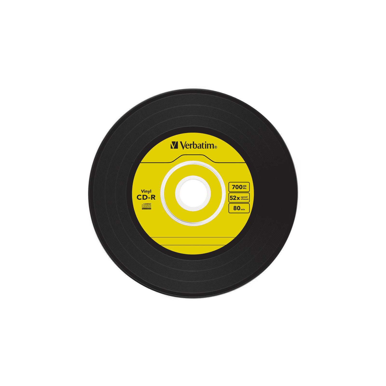 Диск CD Verbatim 700Mb 52x Slim case Vinyl AZO (43426) изображение 3