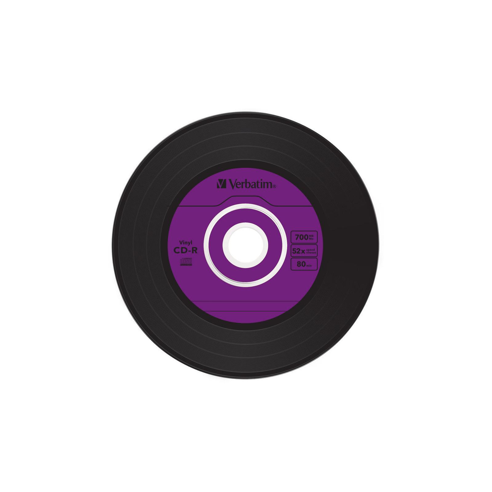 Диск CD Verbatim 700Mb 52x Slim case Vinyl AZO (43426) изображение 5