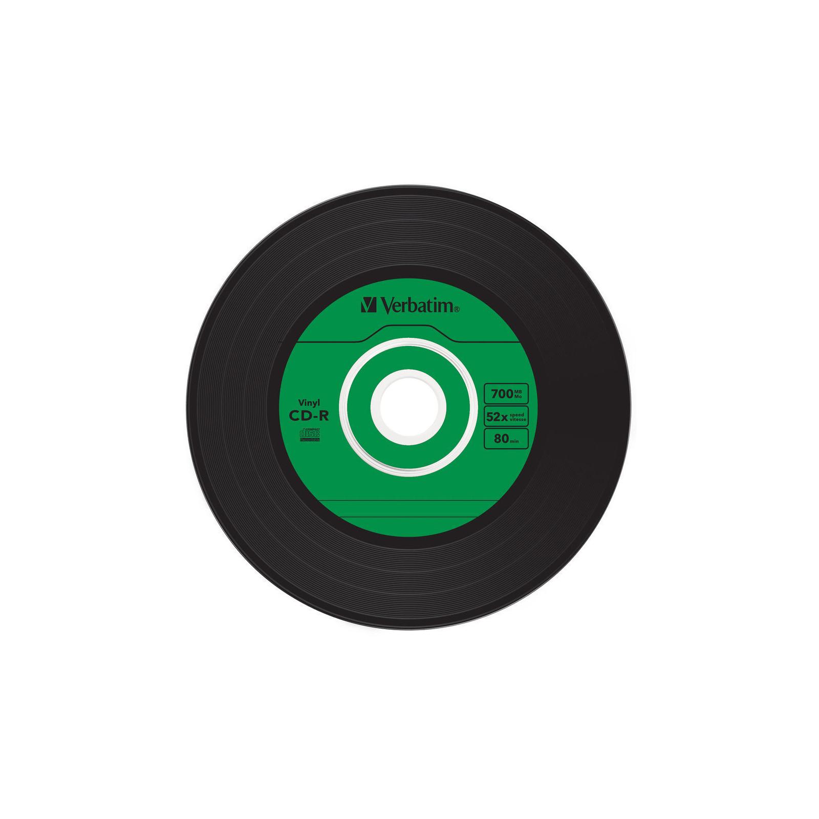 Диск CD Verbatim 700Mb 52x Slim case Vinyl AZO (43426) изображение 6